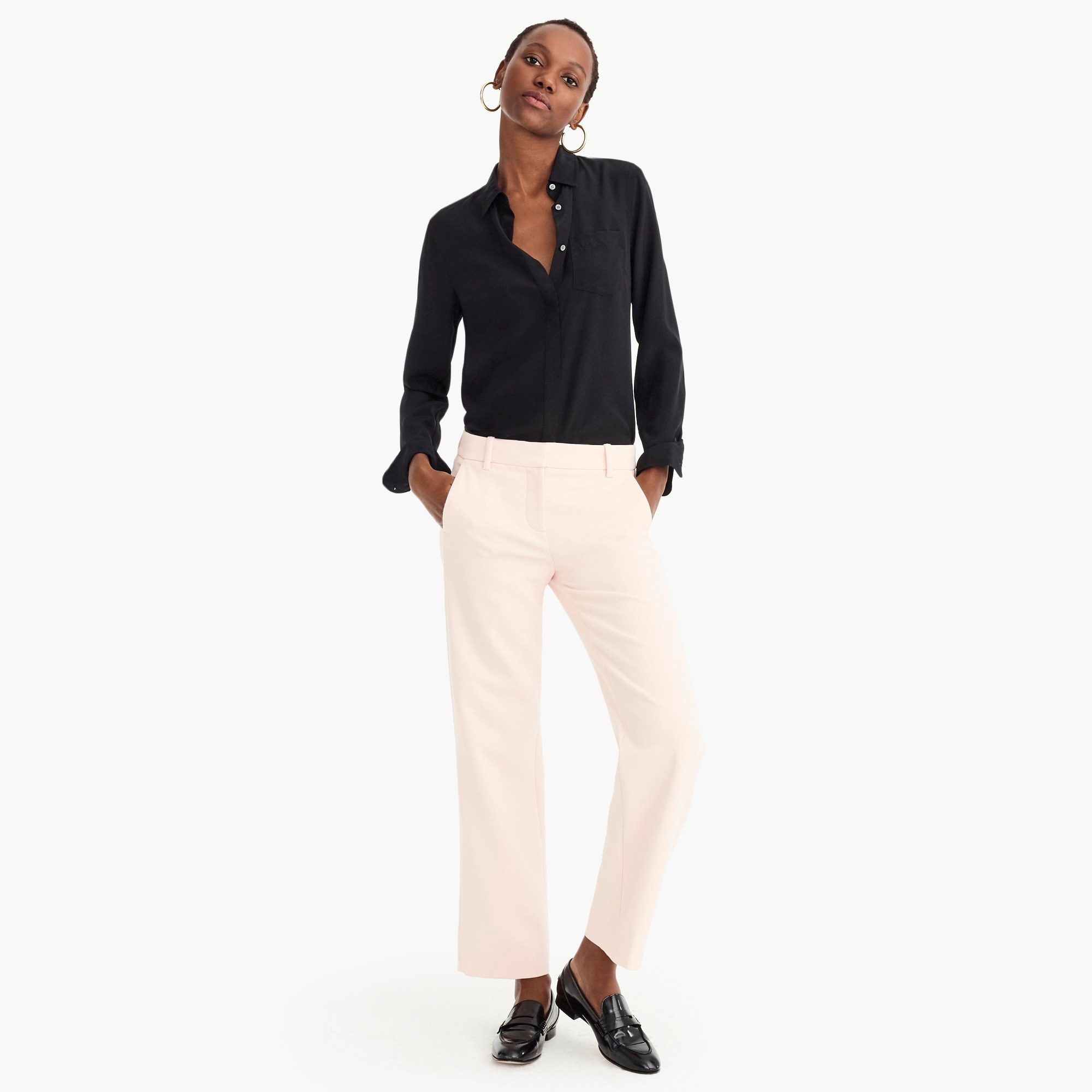 womens High-rise Peyton wide-leg pant in four-season stretch