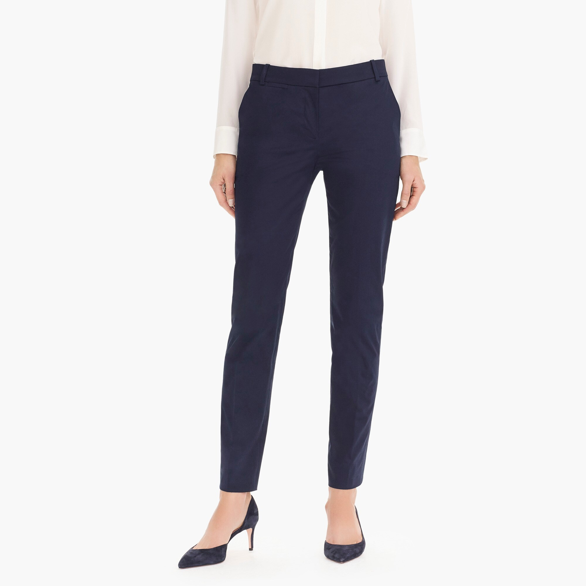 Image 2 for Petite full-length stretch sateen pant