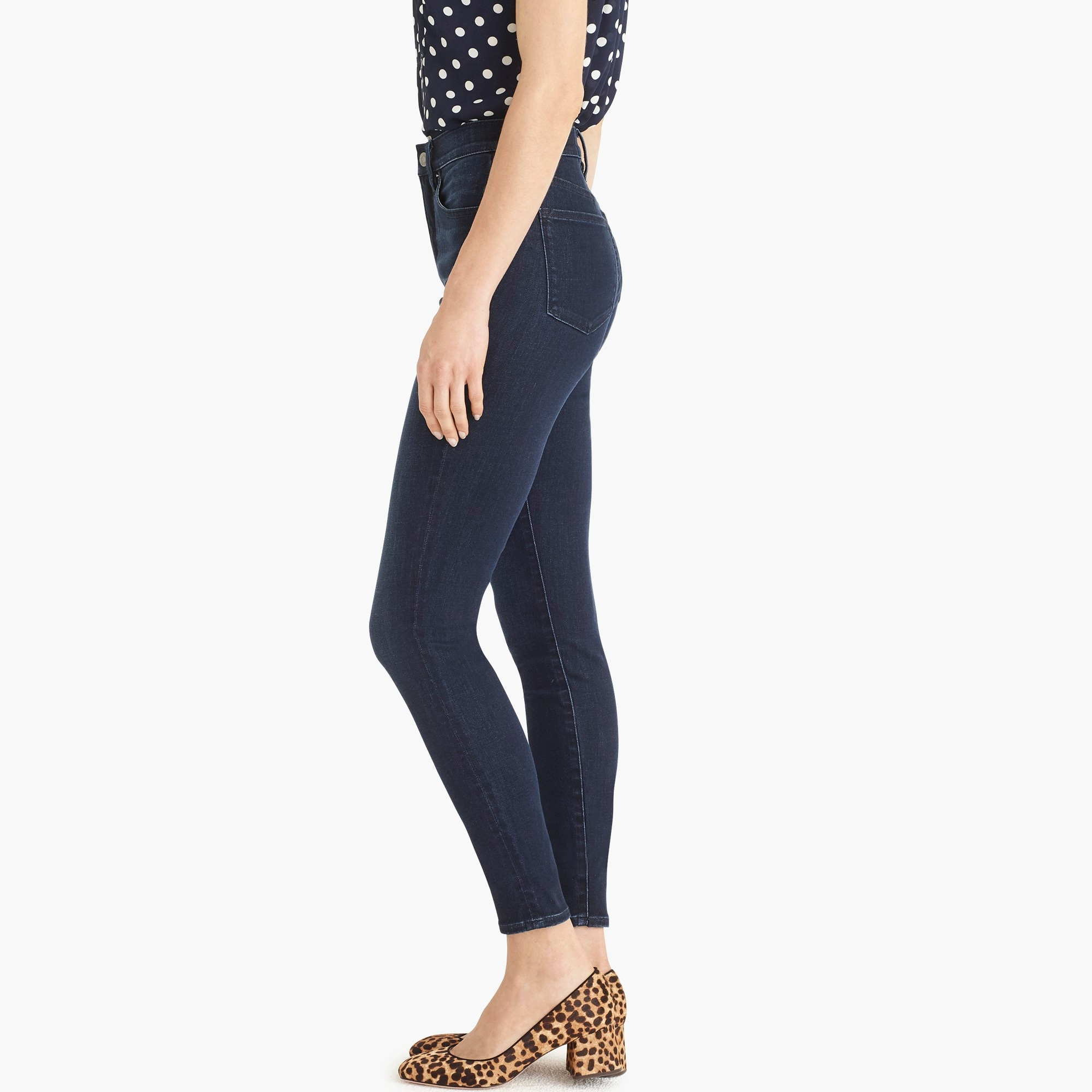 "Image 5 for 10"" highest-rise toothpick jean in deep sea wash with Tencel™"
