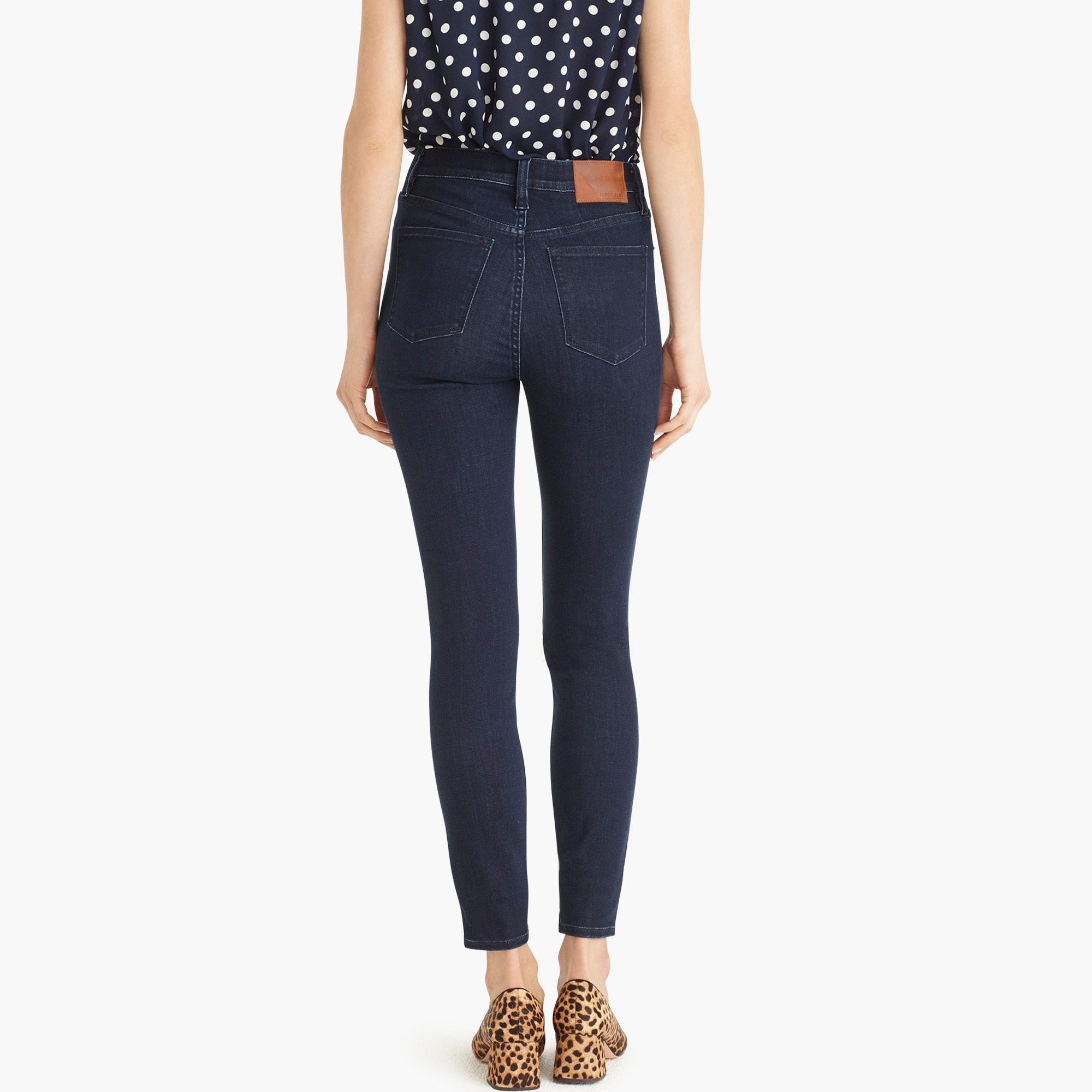 "Image 6 for 10"" highest-rise toothpick jean in deep sea wash with Tencel™"