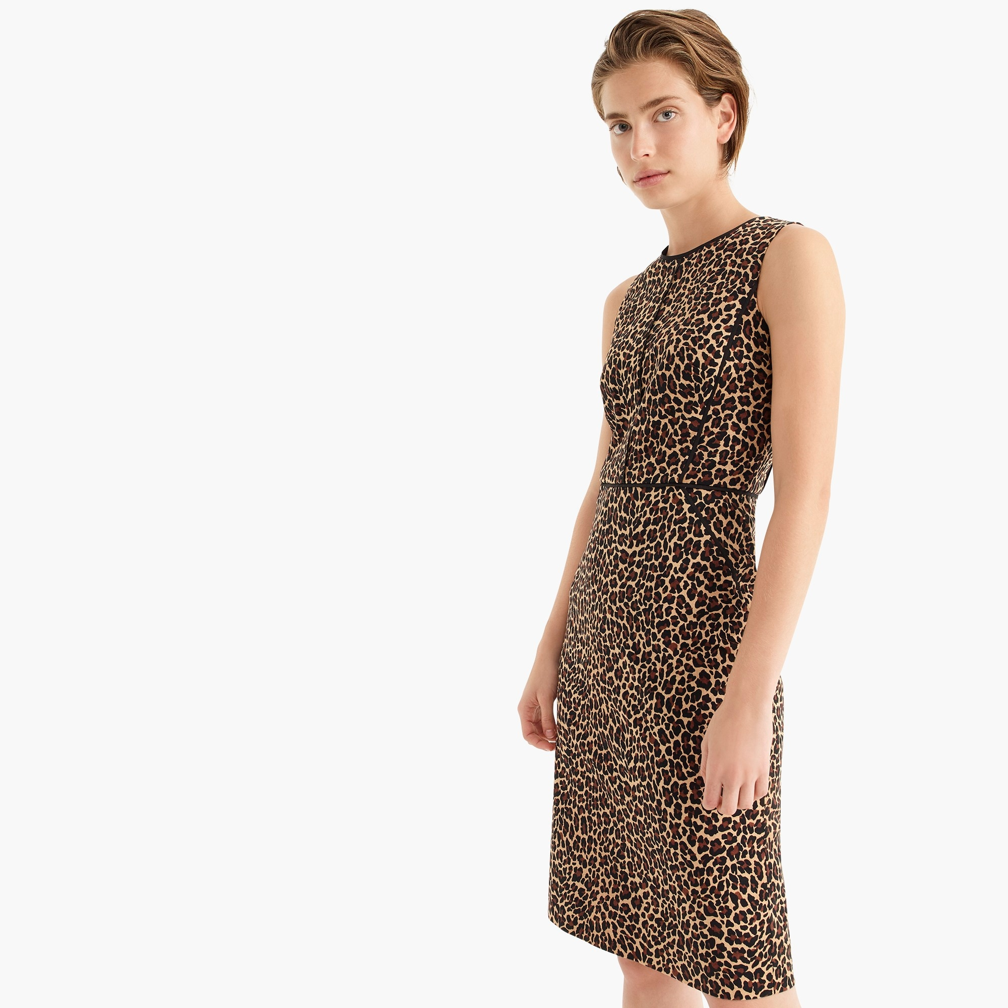 Sheath dress in leopard print