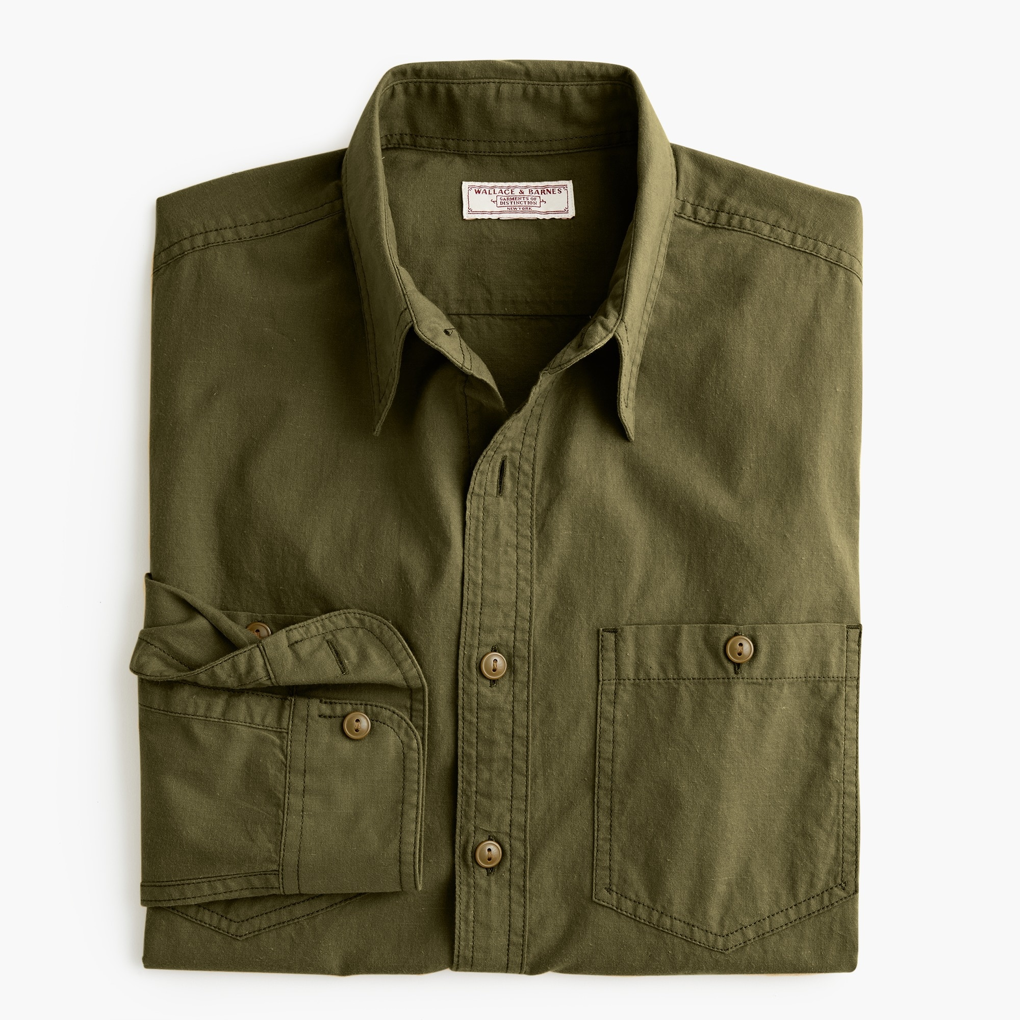 mens Wallace & Barnes cotton-hemp shirt