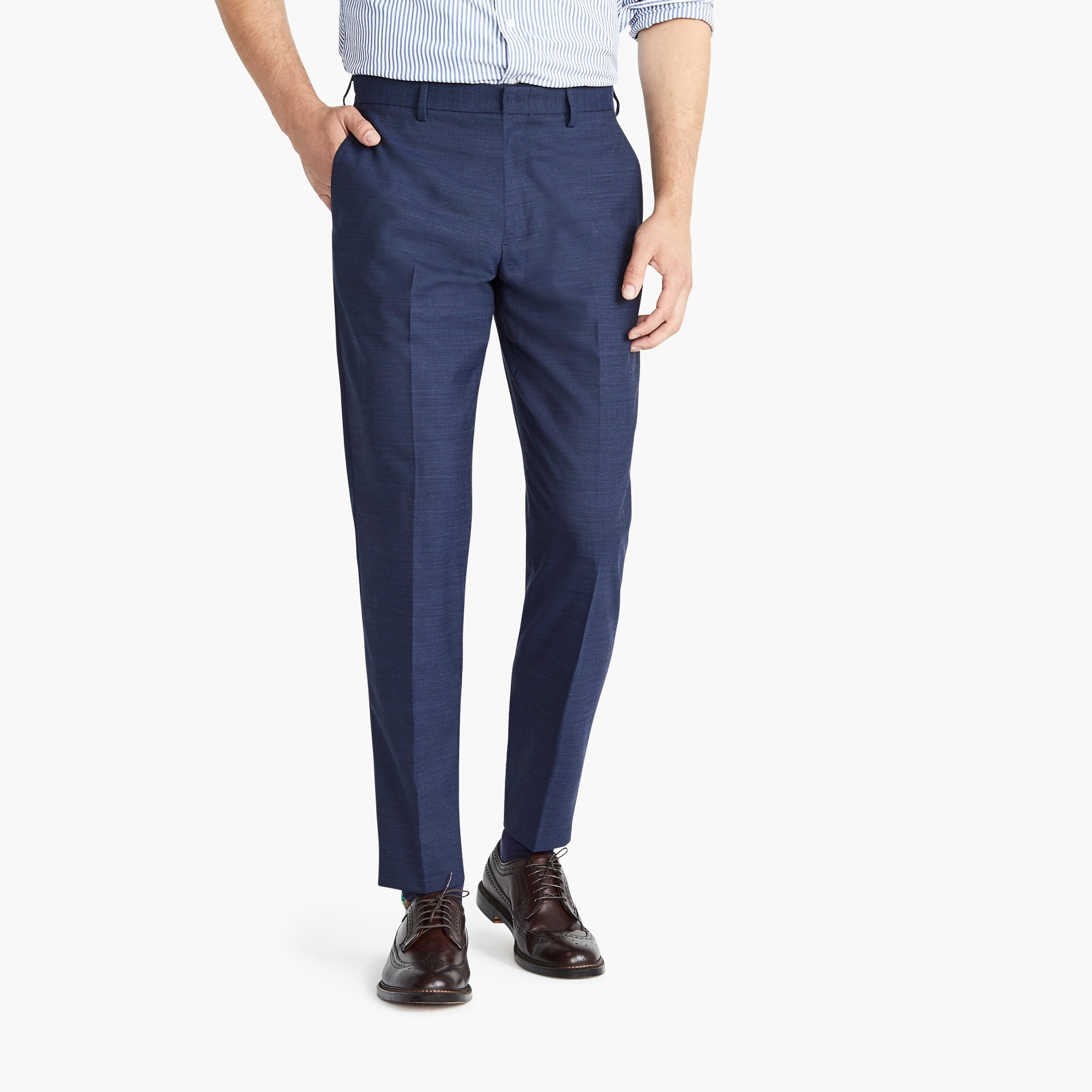 mens Ludlow Slim-fit pant in stretch navy four-season wool