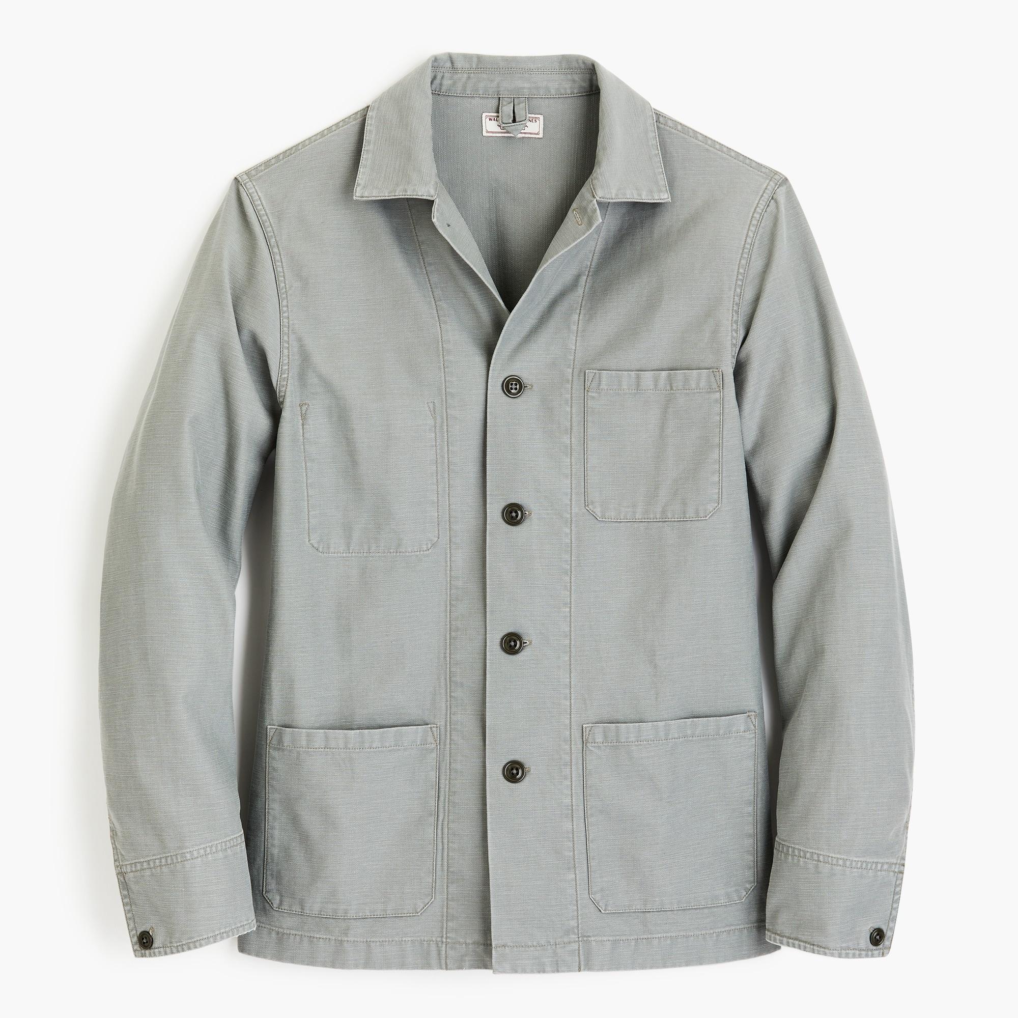 mens Wallace & Barnes twill cotton-hemp counter coat