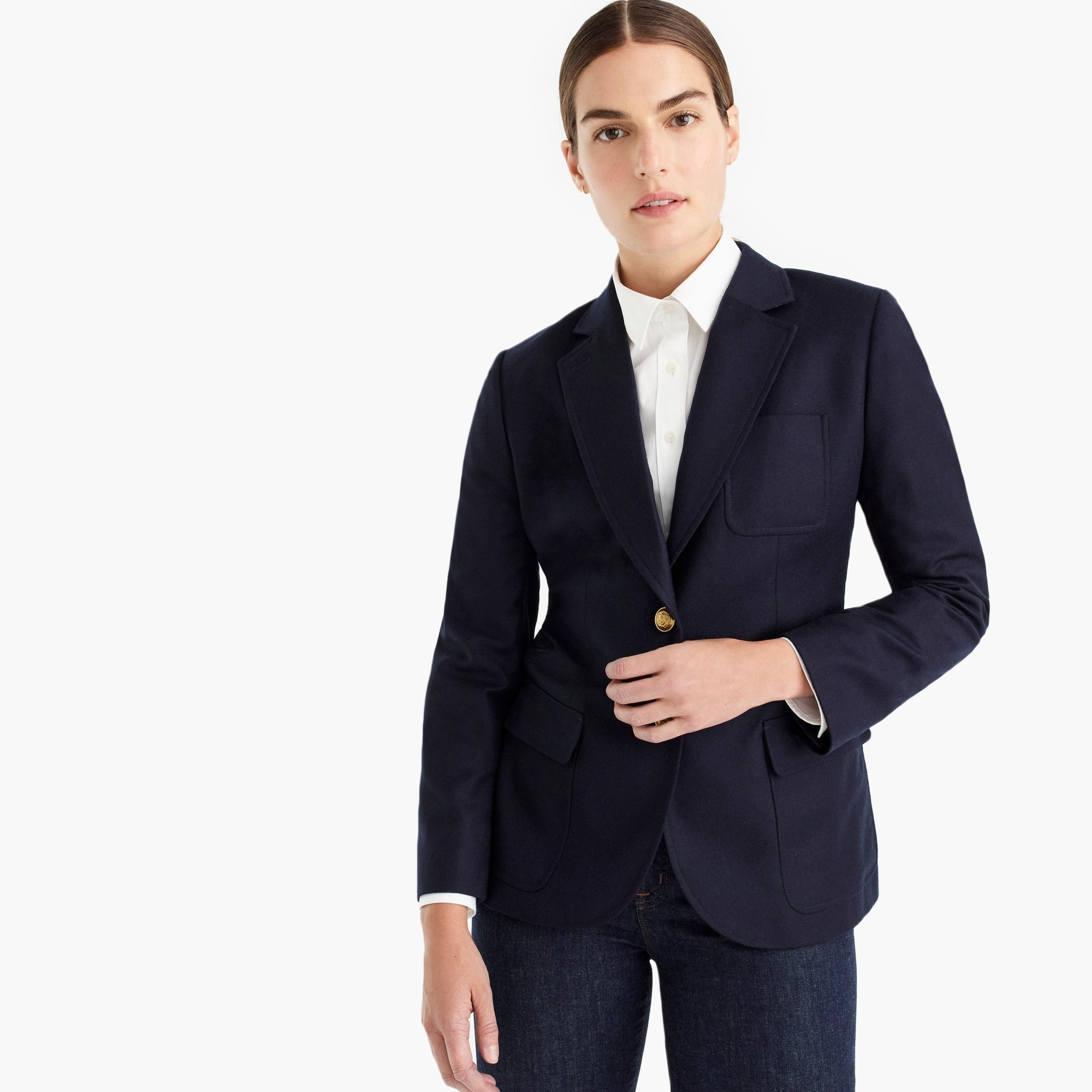 petite legacy blazer in american wool : women single breasted
