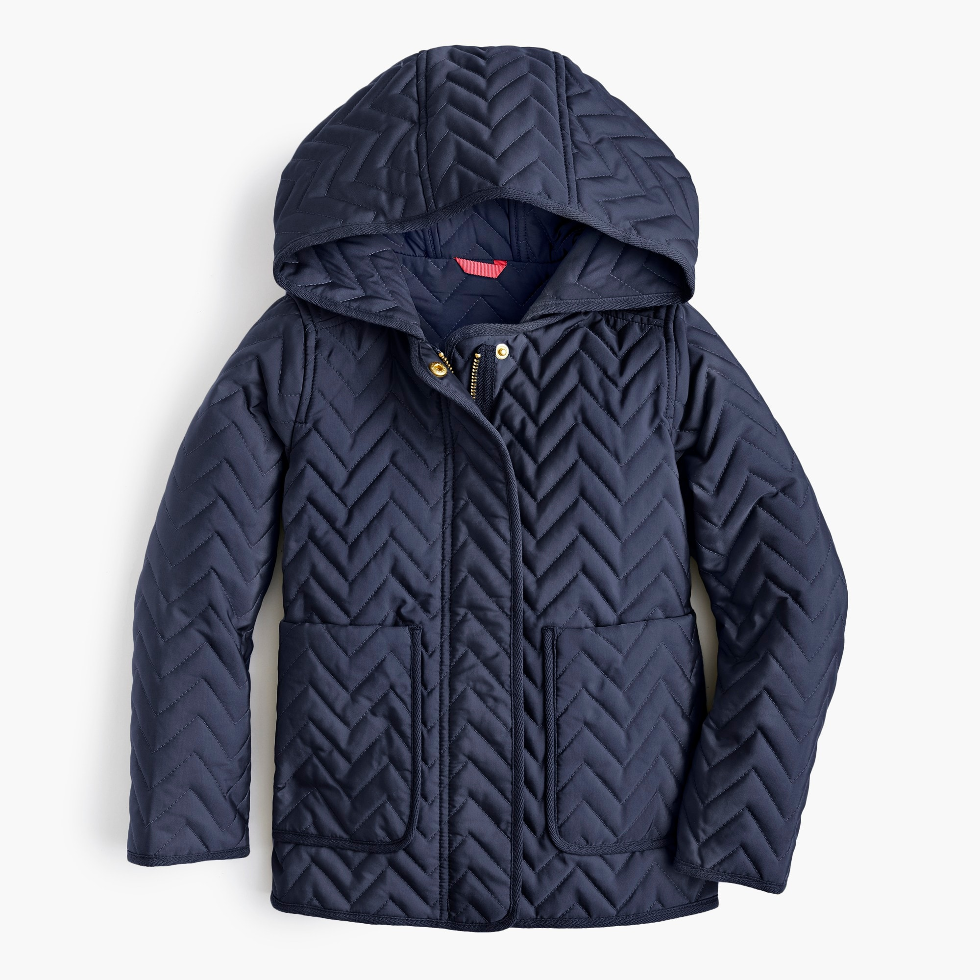 Girls' lightweight zigzag-quilted jacket with Primaloft®