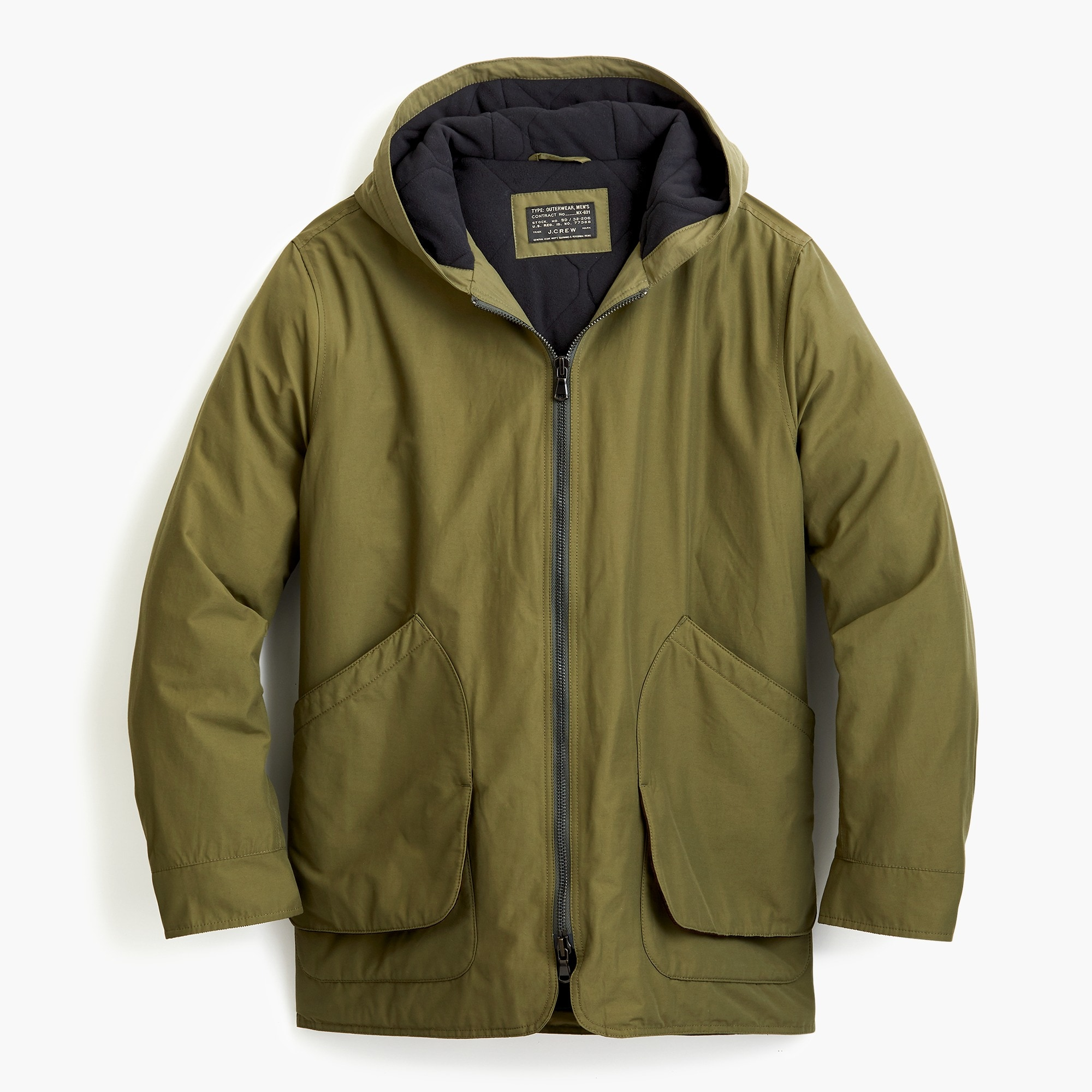 mens Fleece-lined hooded jacket
