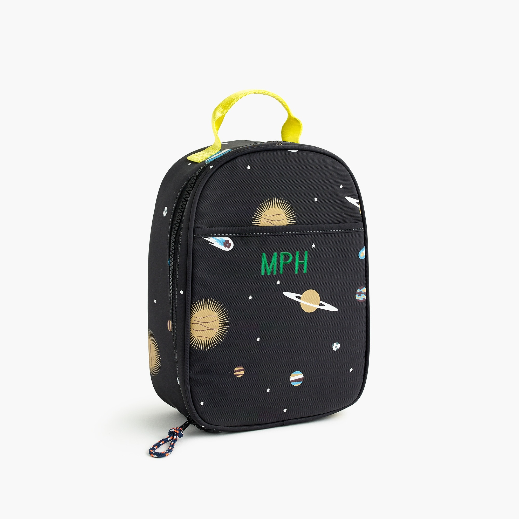 Kids' glow-in-the-dark space-print lunch box