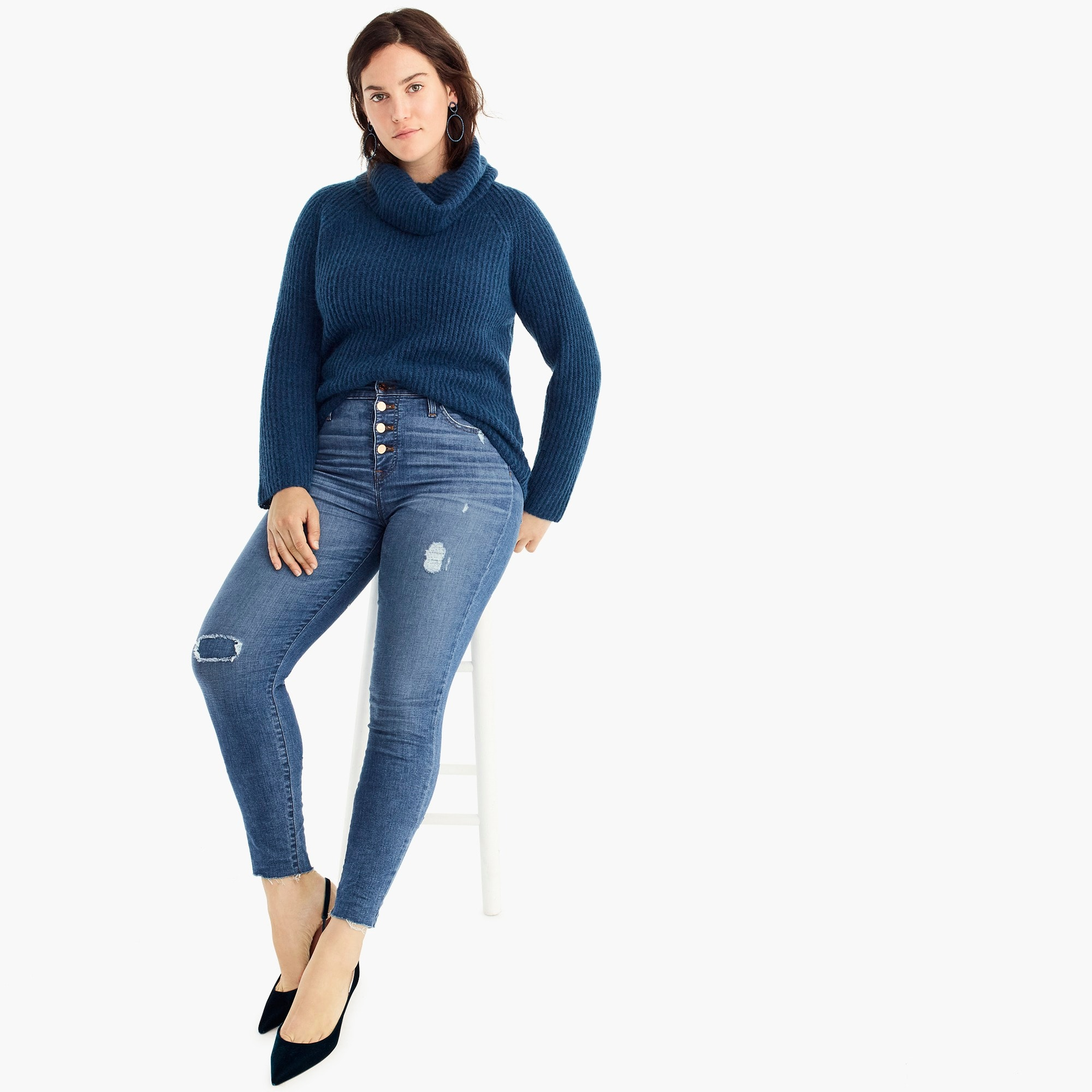 Image 1 for Point Sur ribbed turtleneck sweater