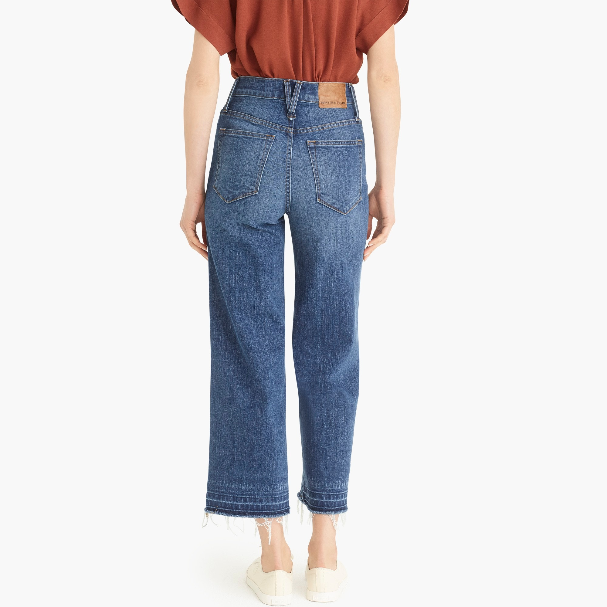 Image 6 for Point Sur wide-leg crop jean with let-down hem