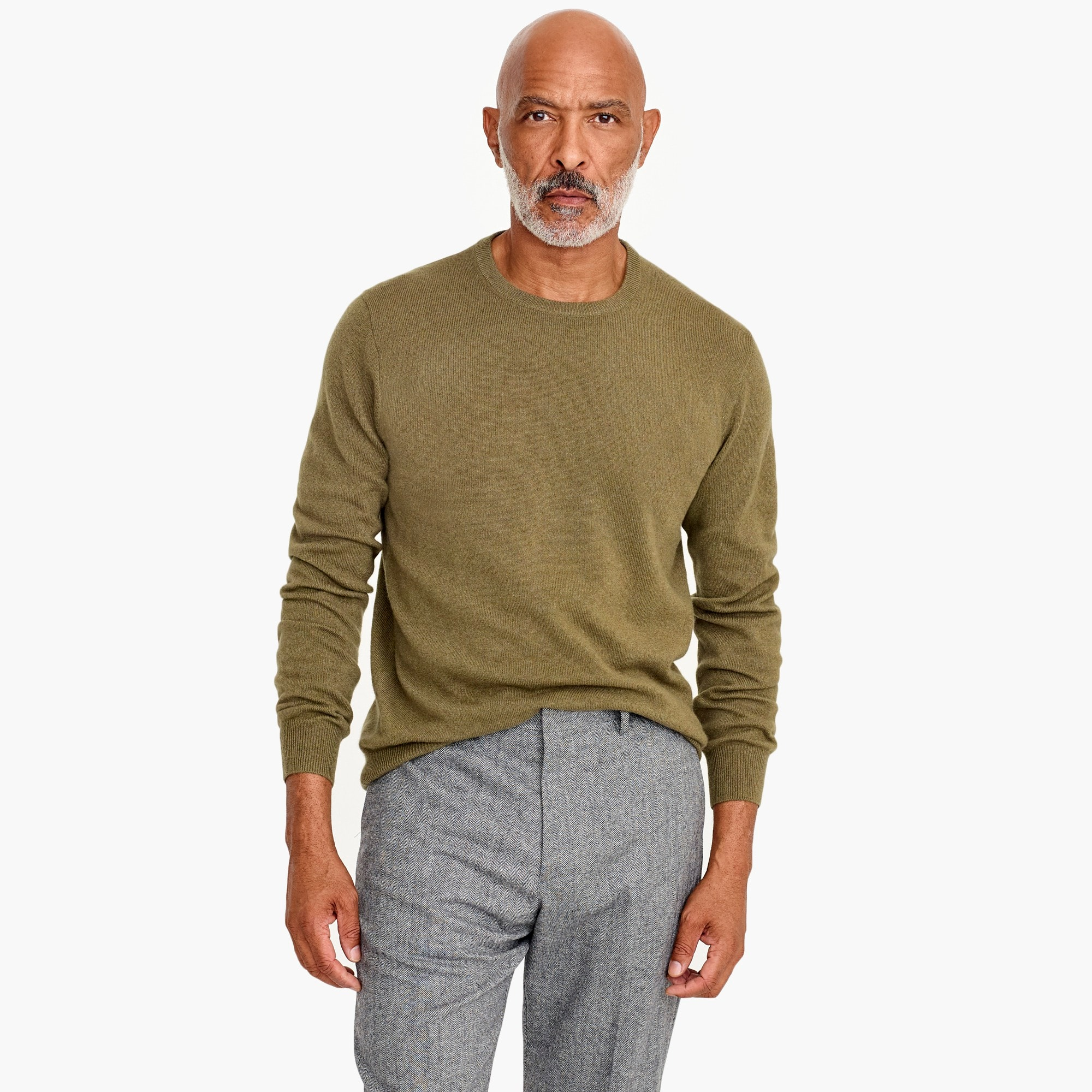 mens Everyday cashmere crewneck sweater in solid
