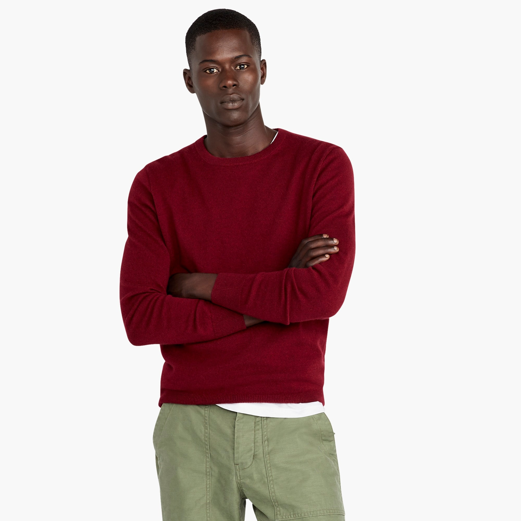 mens Everyday cashmere crew neck sweater in solid