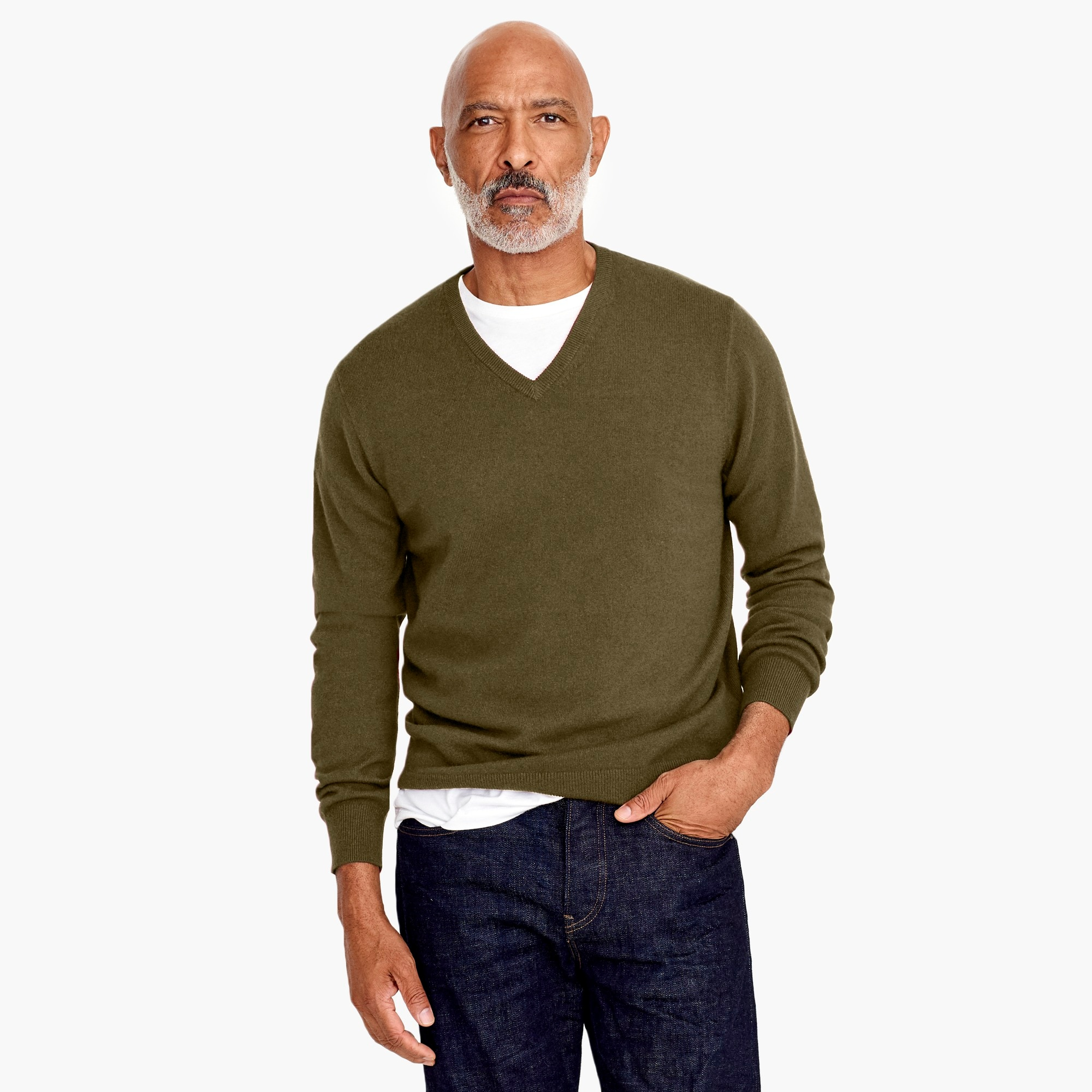 mens Everyday cashmere V-neck sweater