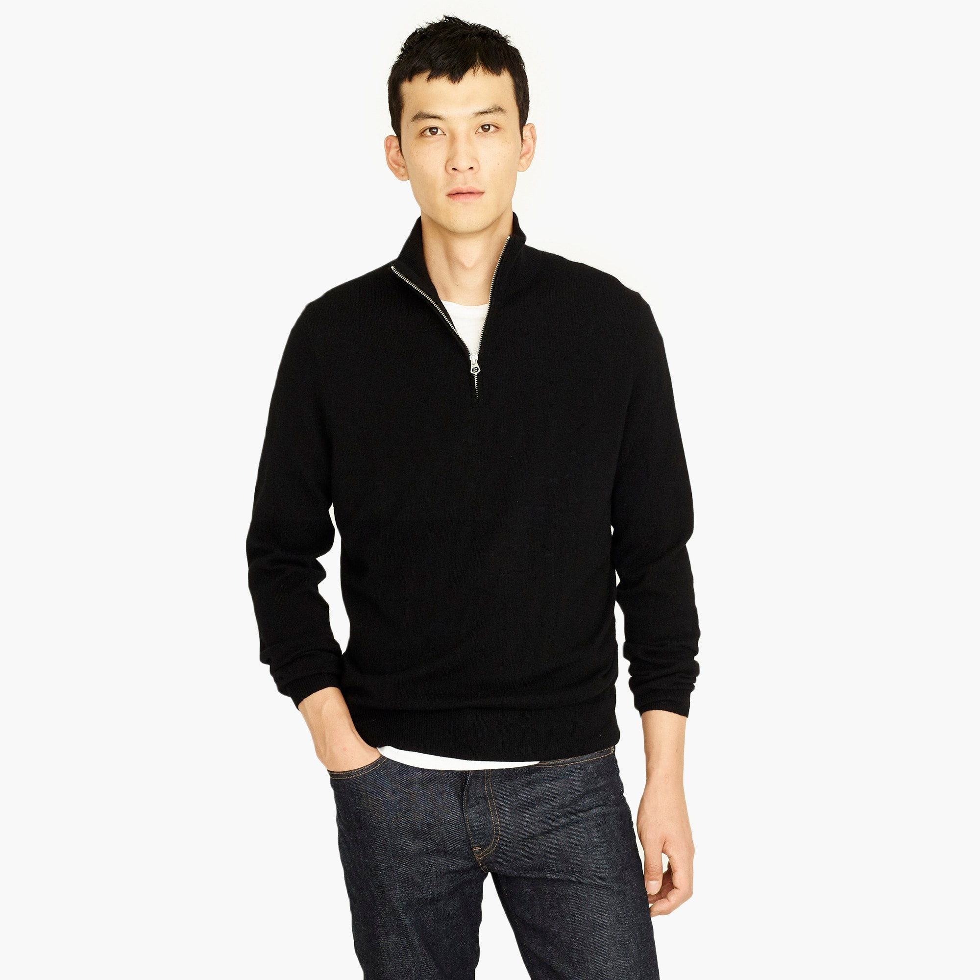mens Everyday cashmere half-zip sweater