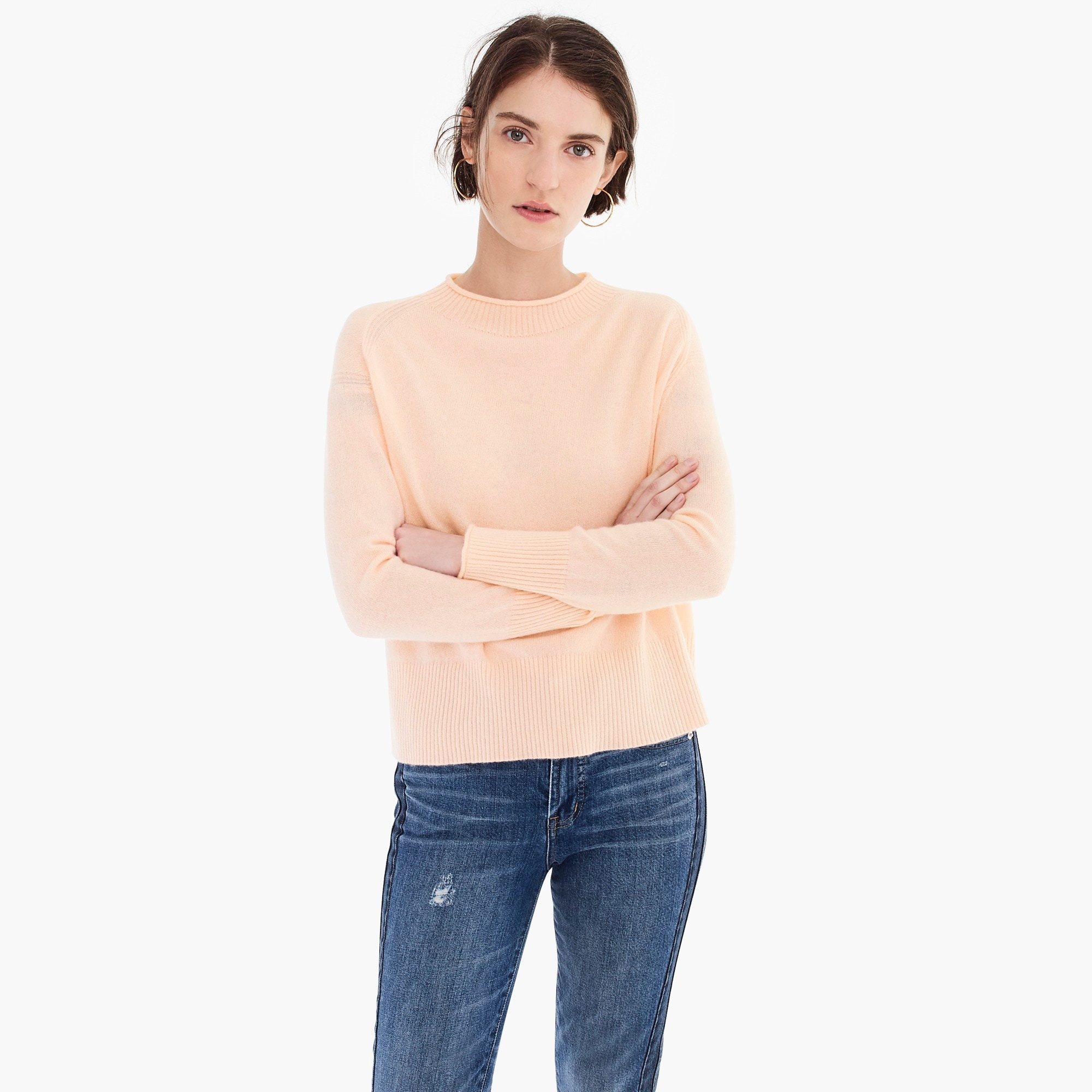 Image 4 for Everyday cashmere ribbed-neck sweater