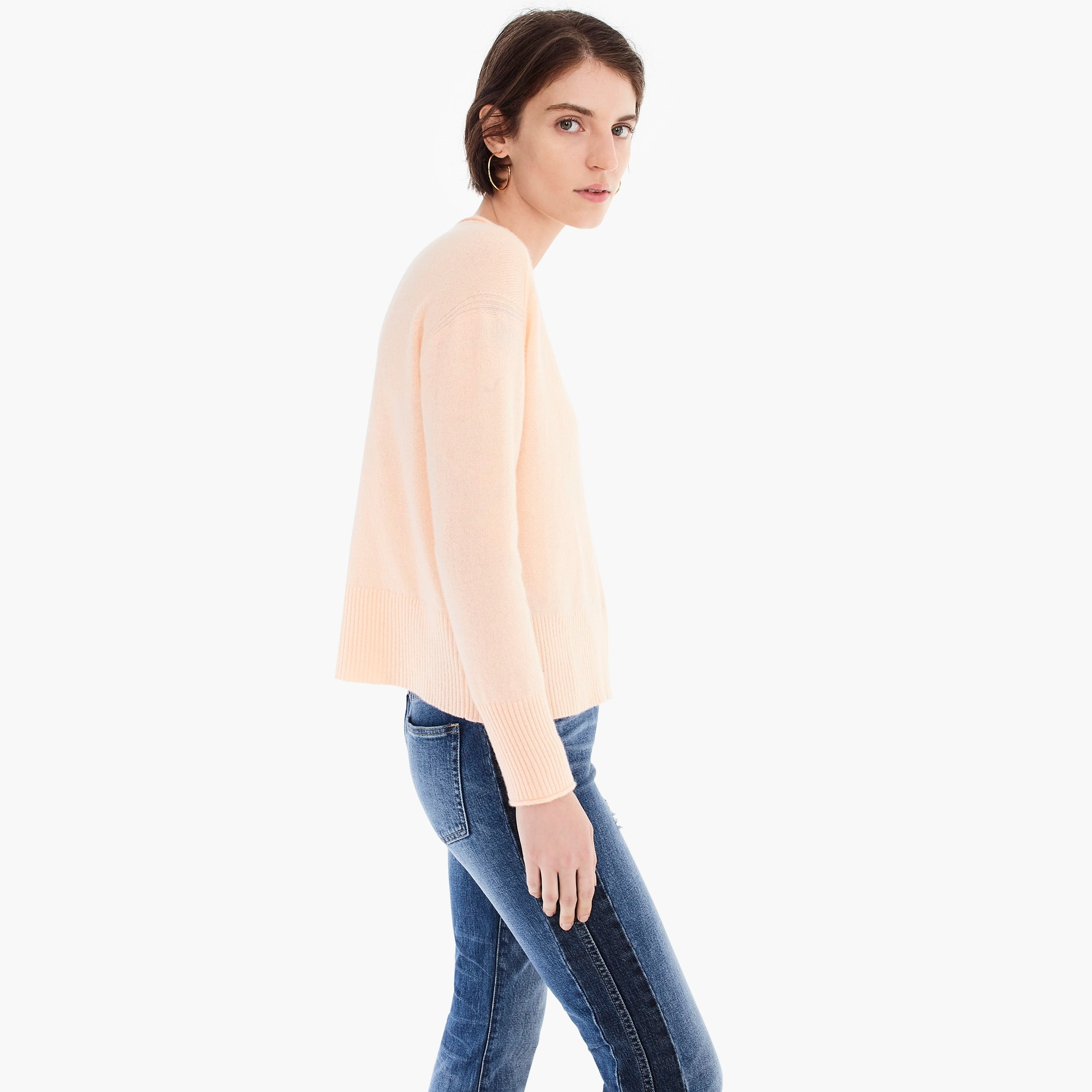 Everyday cashmere ribbed-neck sweater