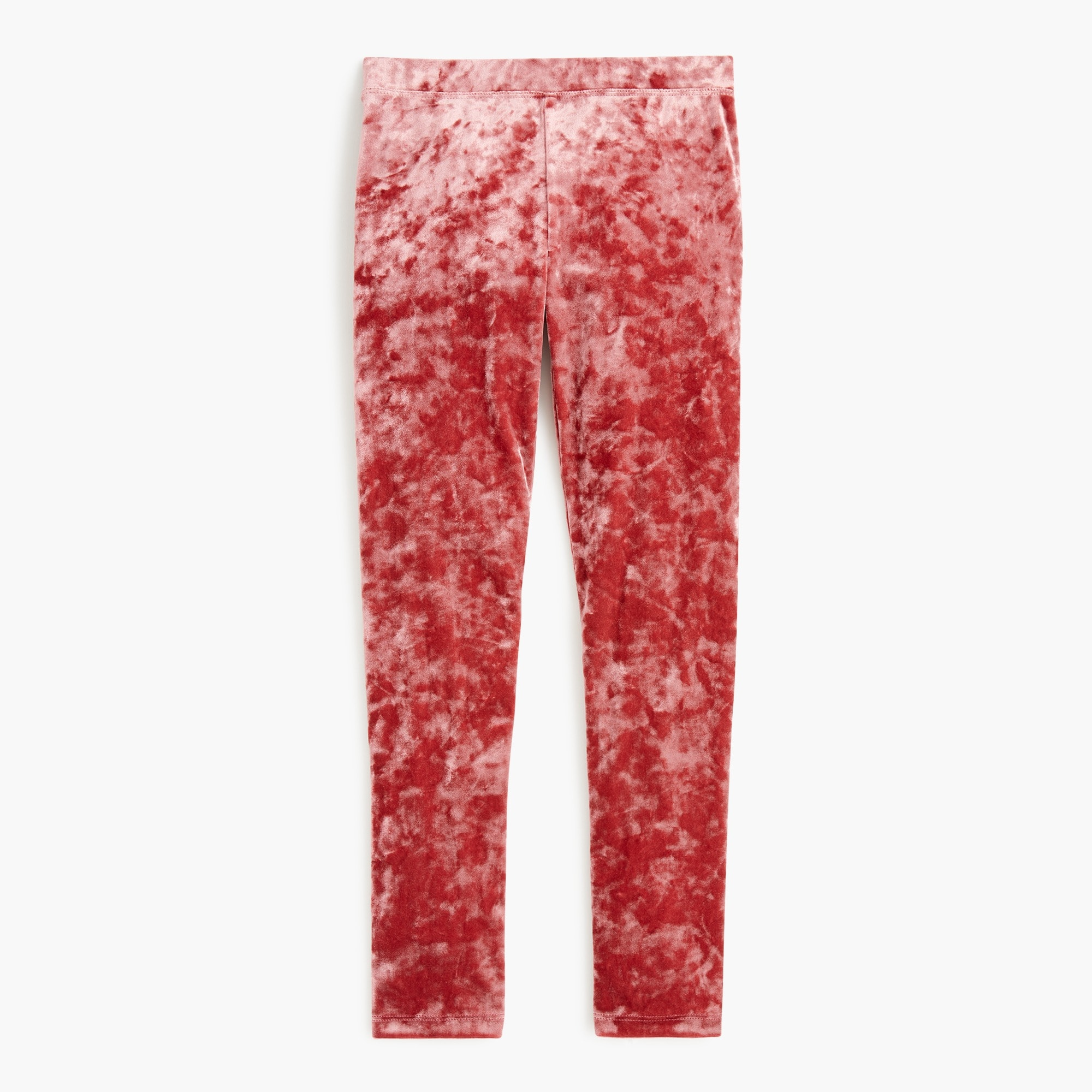 girls Girls' stretch crushed velvet legging