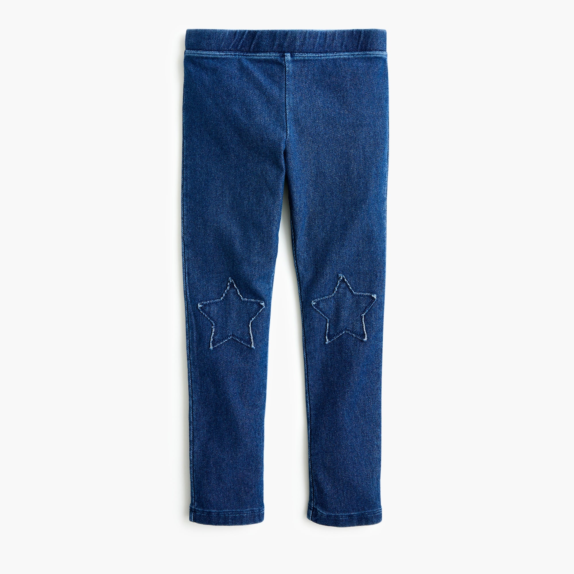 girls Girls' denim leggings with star-shaped patches