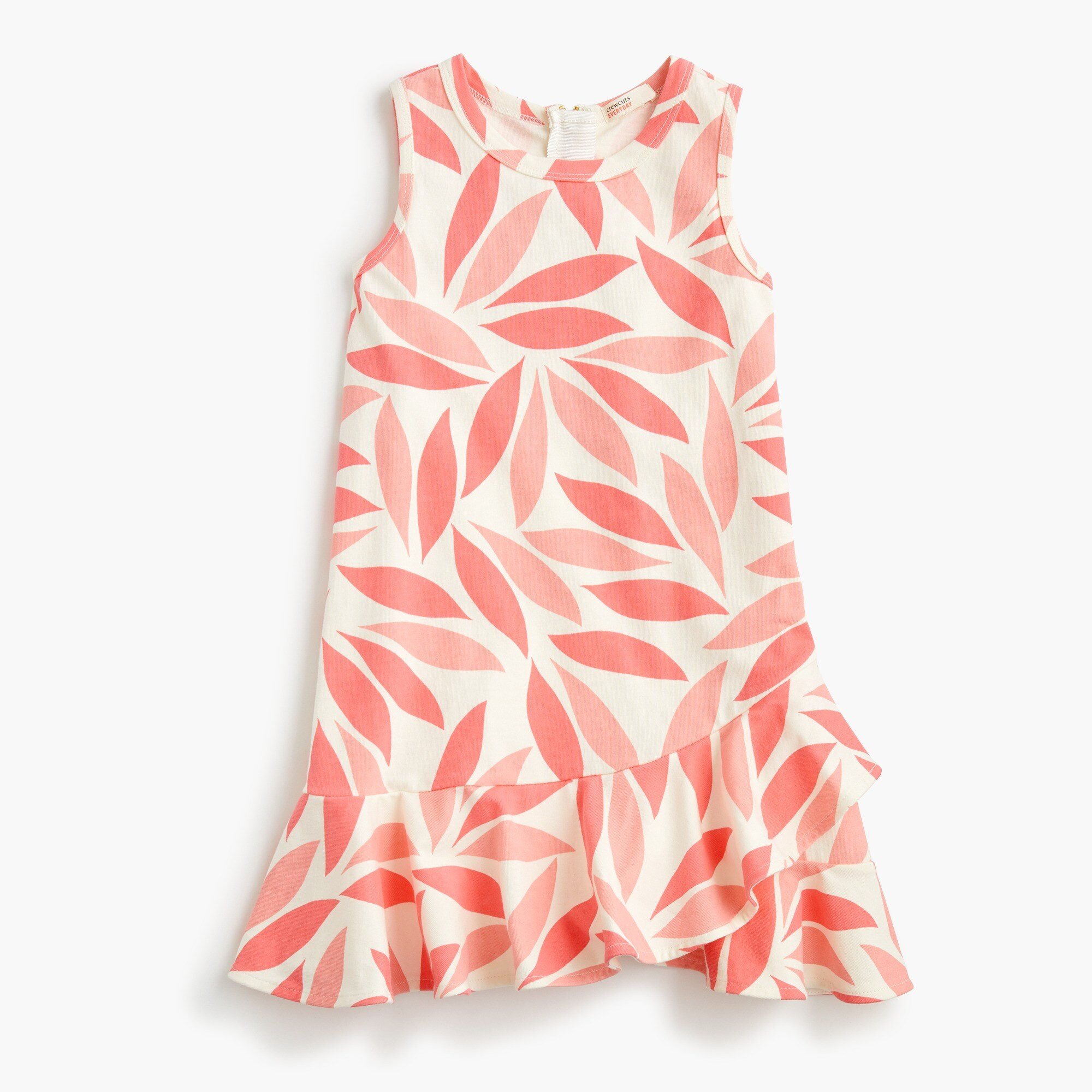 girls Girls' ruffle-hem dress in coral petal
