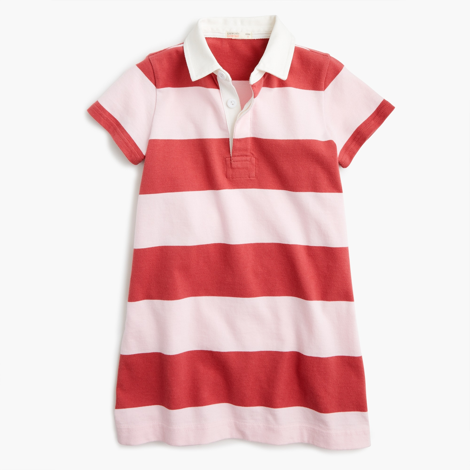 Girls' short-sleeved rugby shirtdress