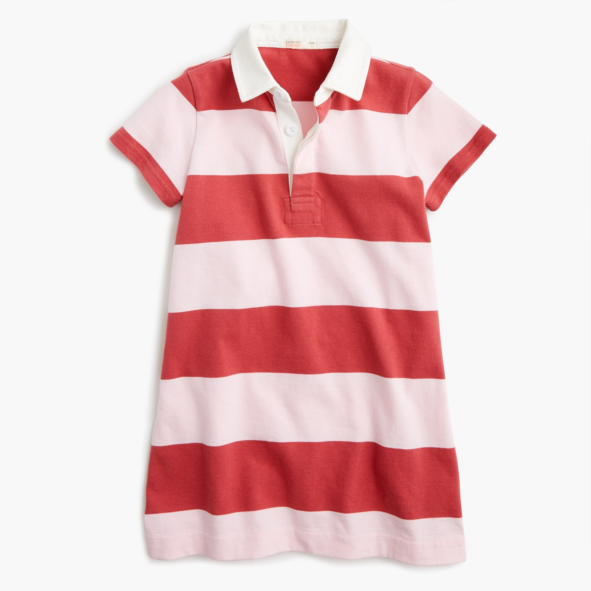 girls Girls' short-sleeved rugby shirtdress