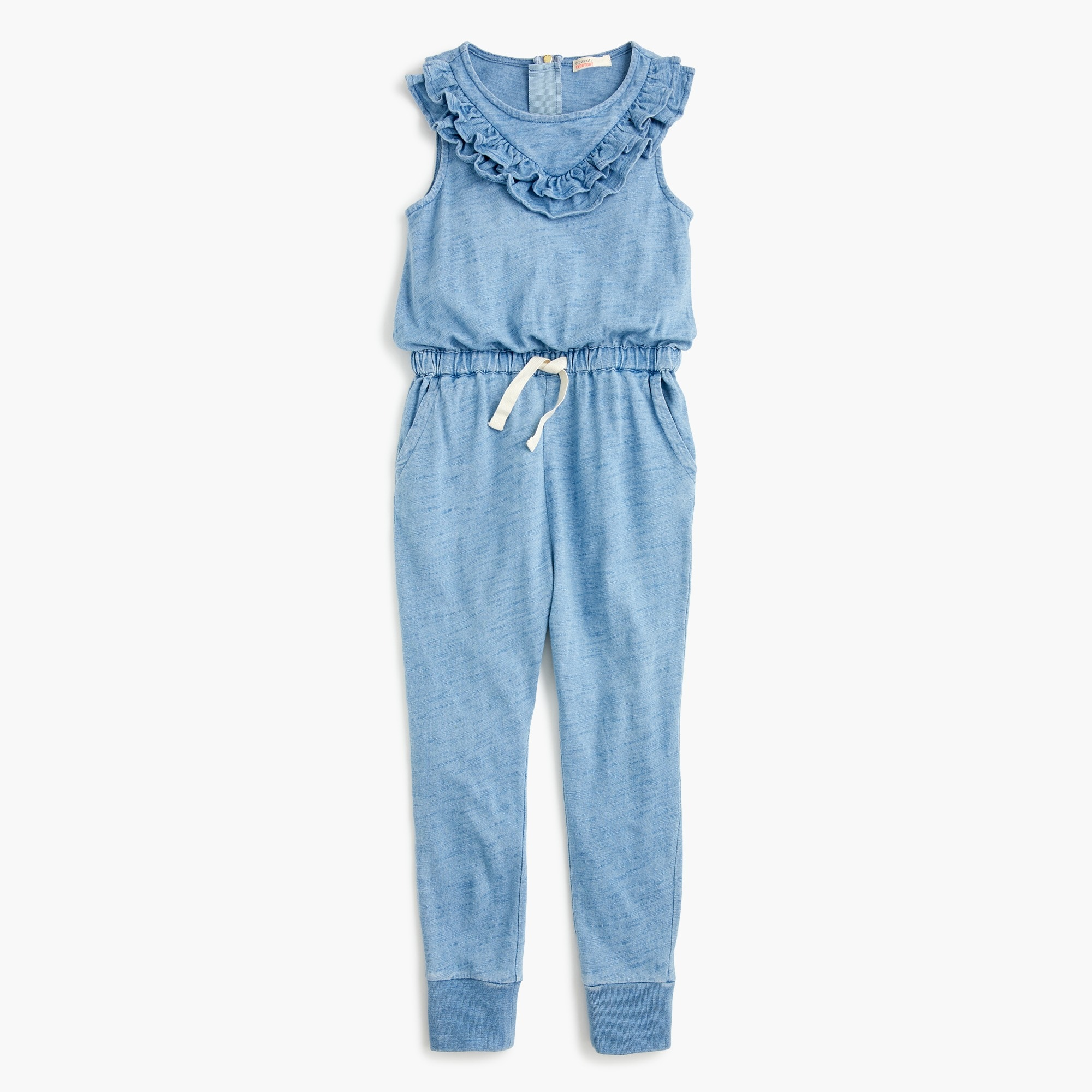 Image 1 for Girls' ruffle-trimmed jumpsuit