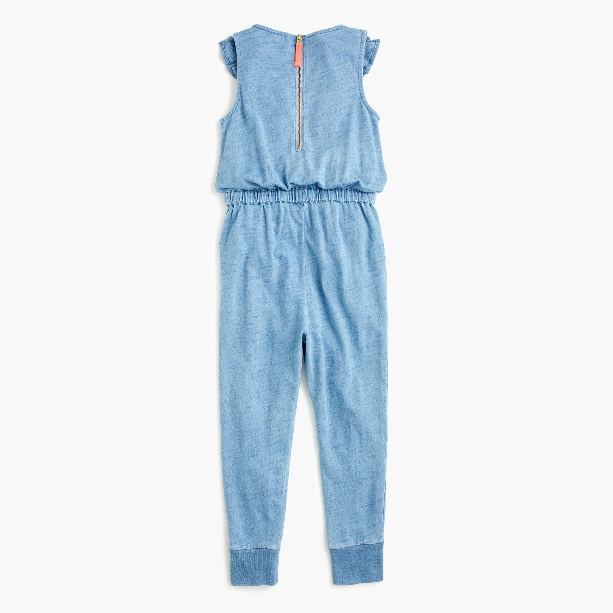 Girls' ruffle-trimmed jumpsuit