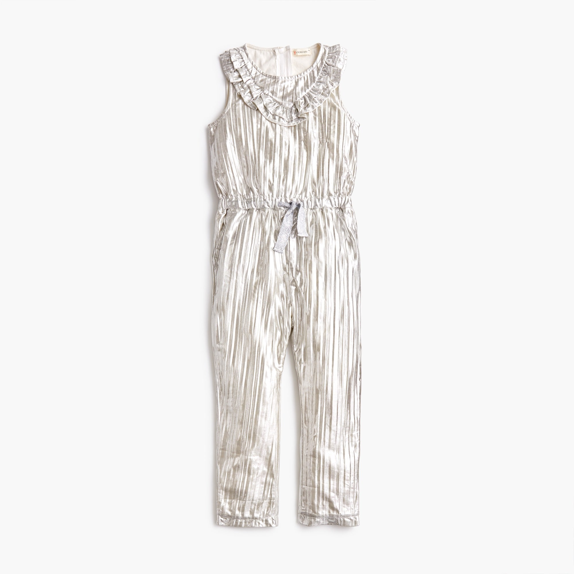 Image 2 for Girls' metallic ruffle-trimmed jumpsuit