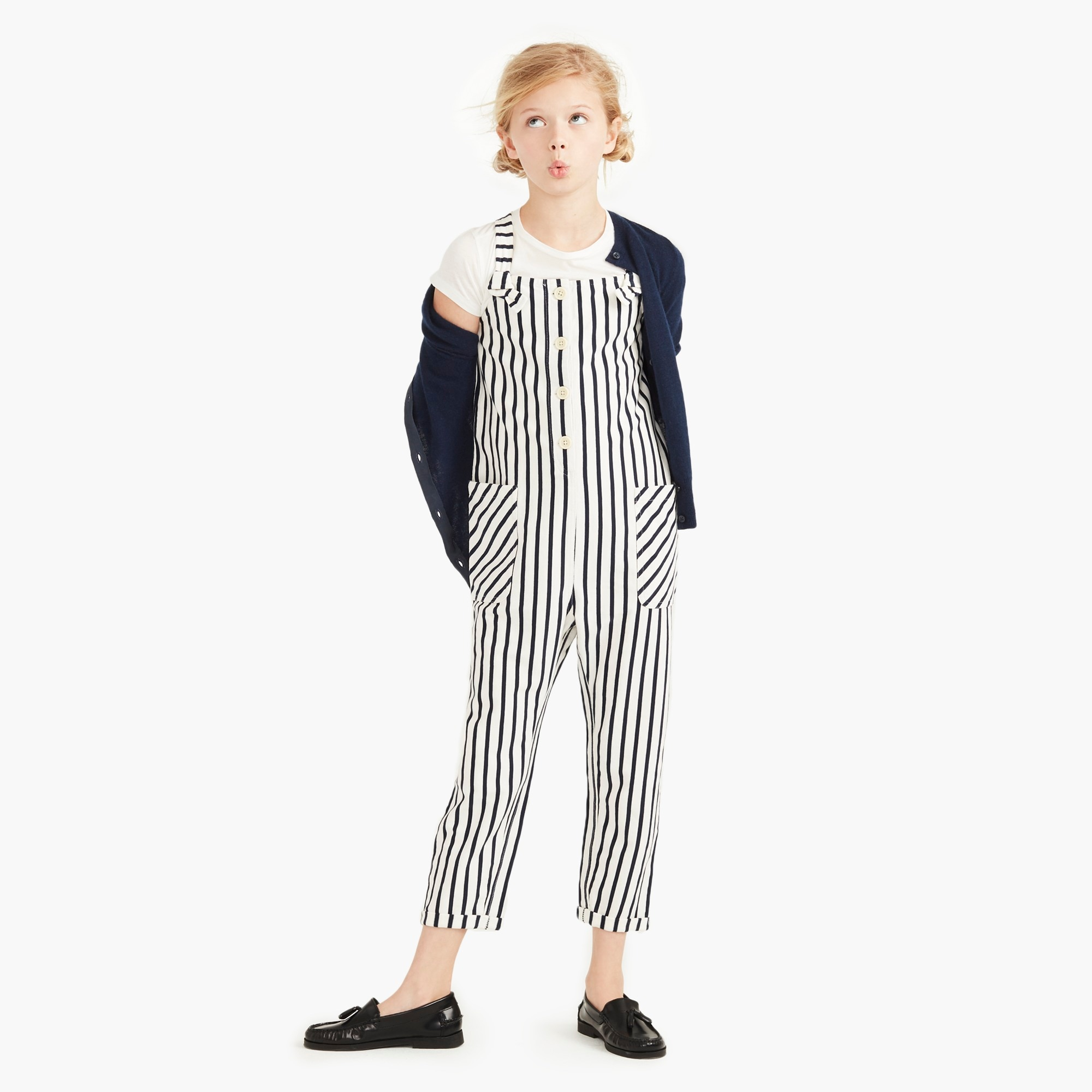girls Girls' cotton jumpsuit in stripes