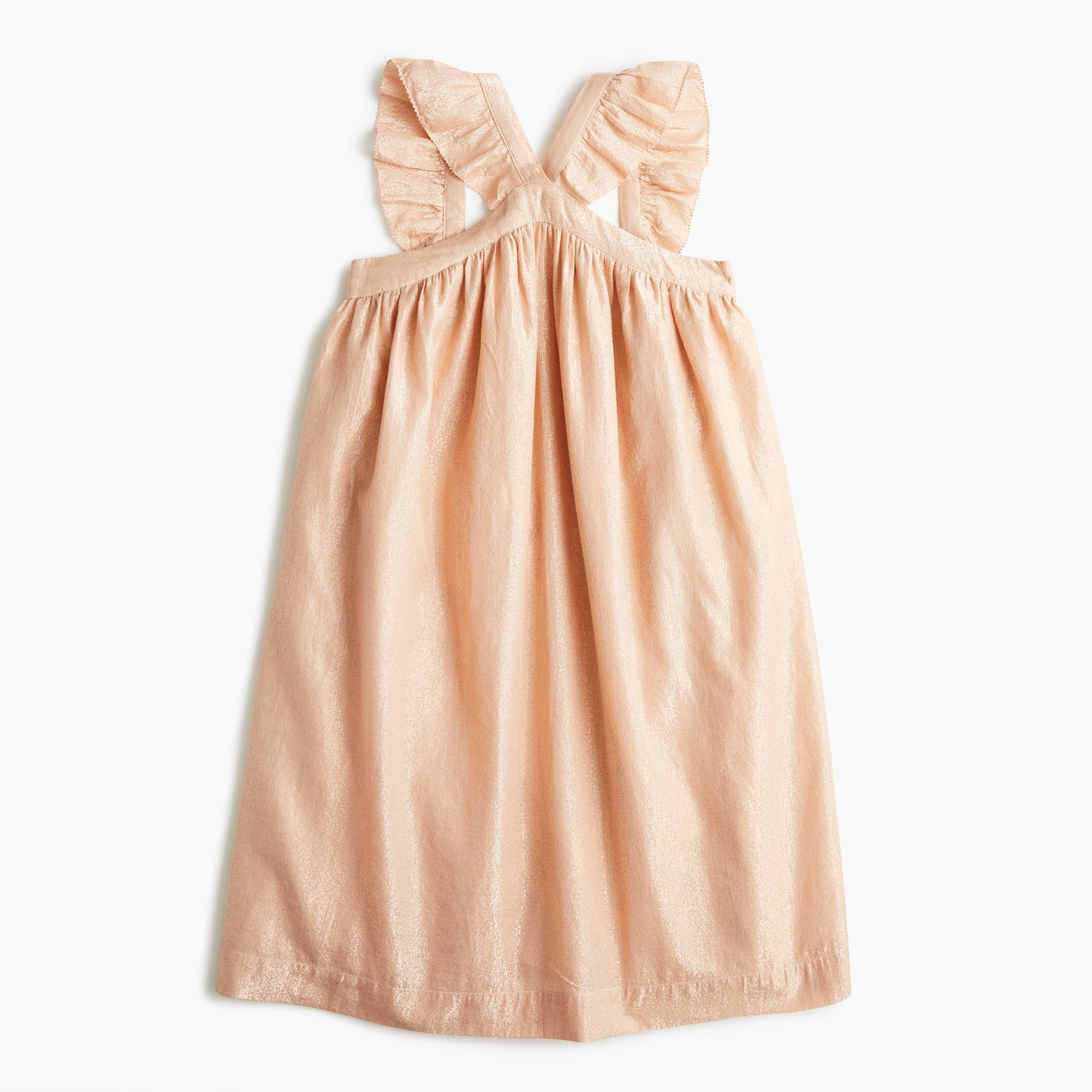 Girls' ruffle-strap dress