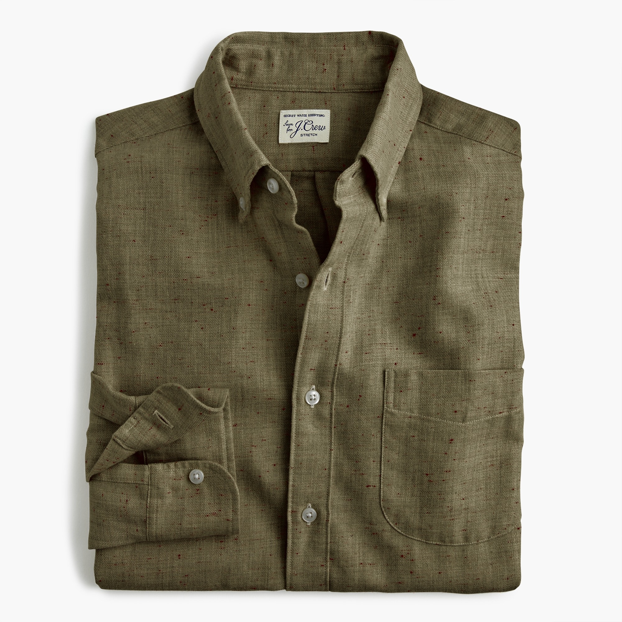 mens Slim neppy cotton twill shirt