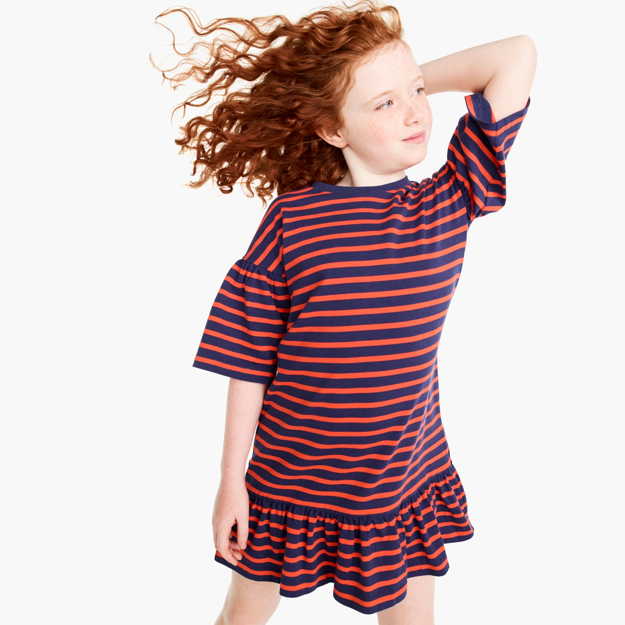 mixedproducts Girls' drop-waist dress in stripes