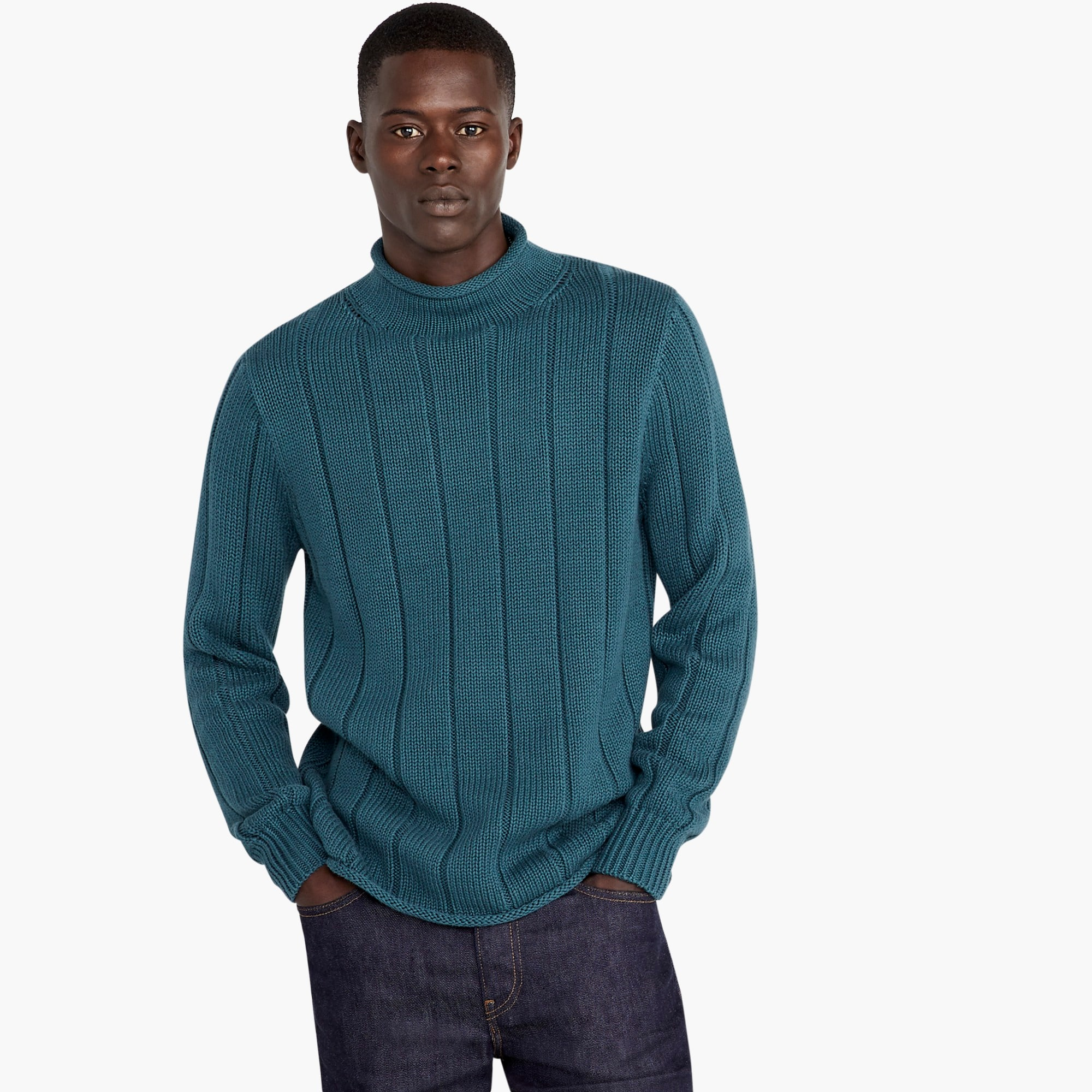 1988 rollneck™ sweater in ribbed cotton : men turtleneck