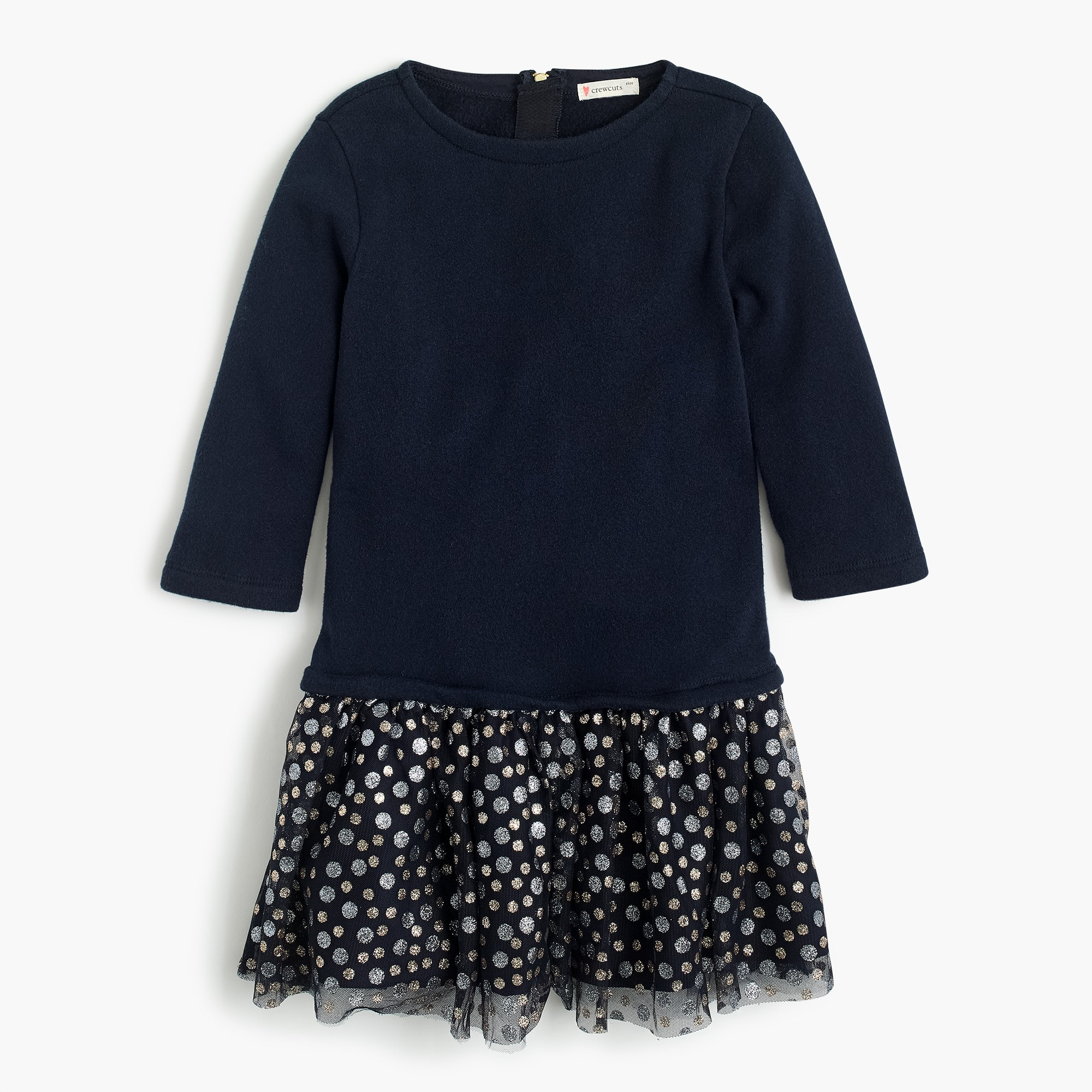 girls Girls' tulle-skirted dress in dots
