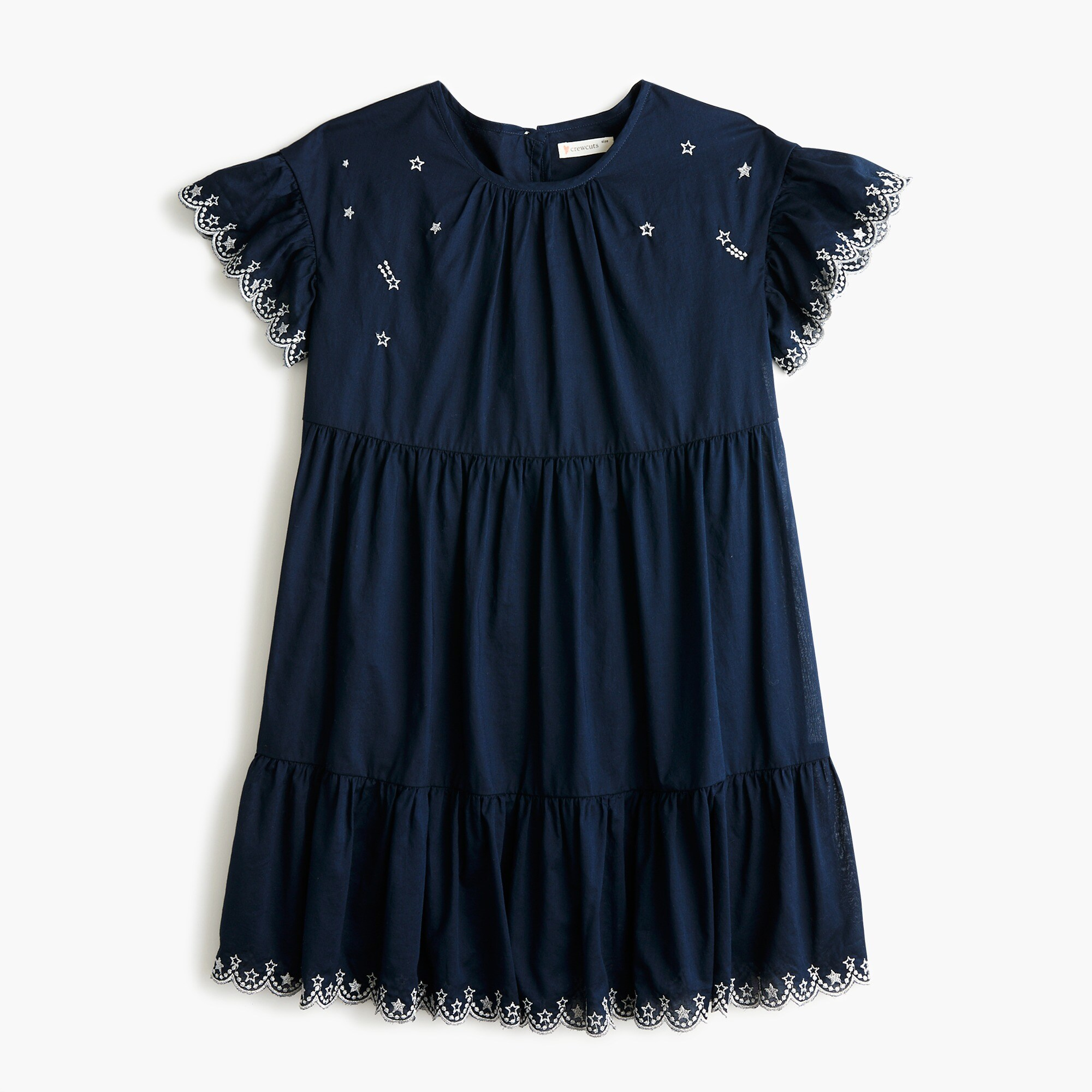 girls Girls' tiered dress with stars