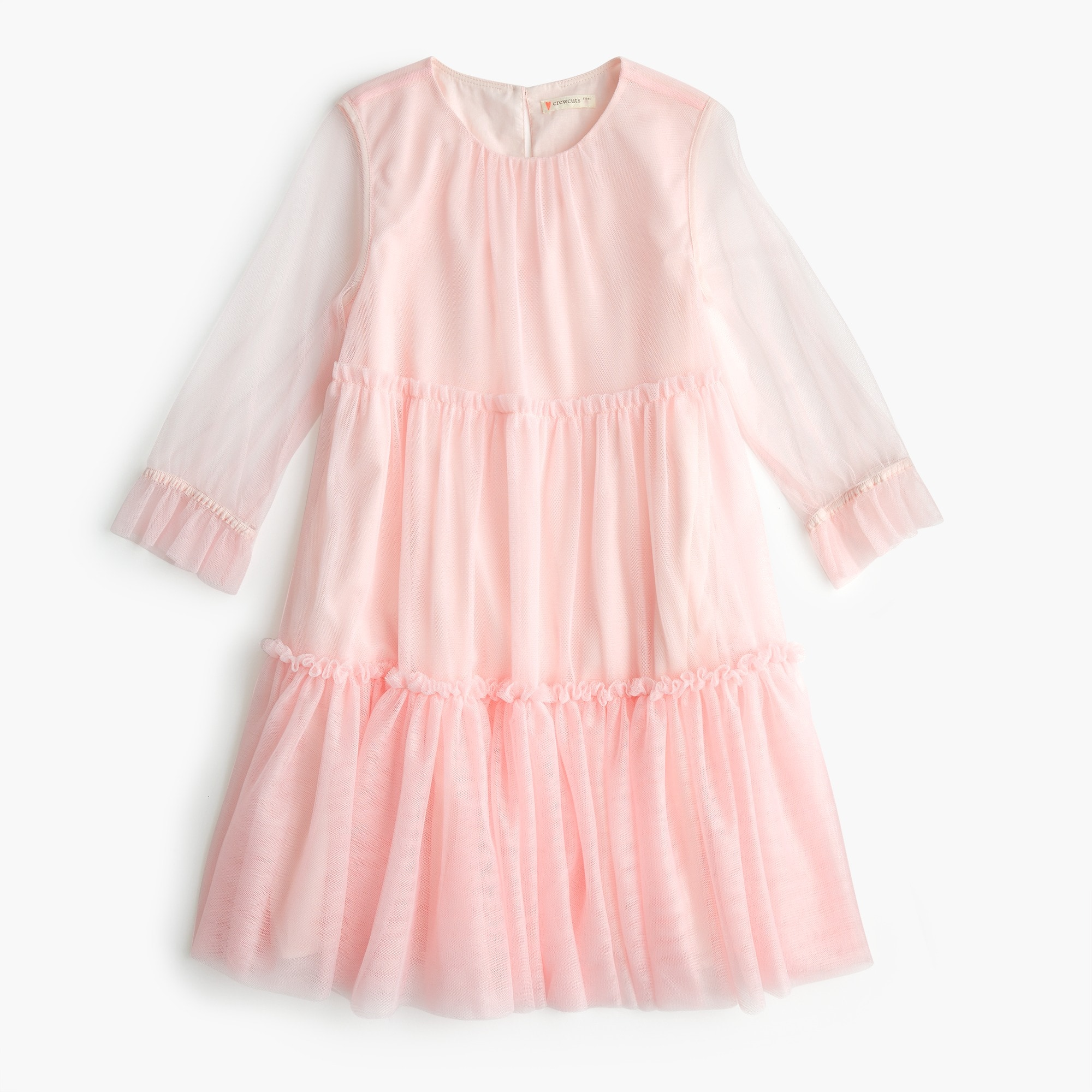 girls Girls' dress with tiered tulle overlay