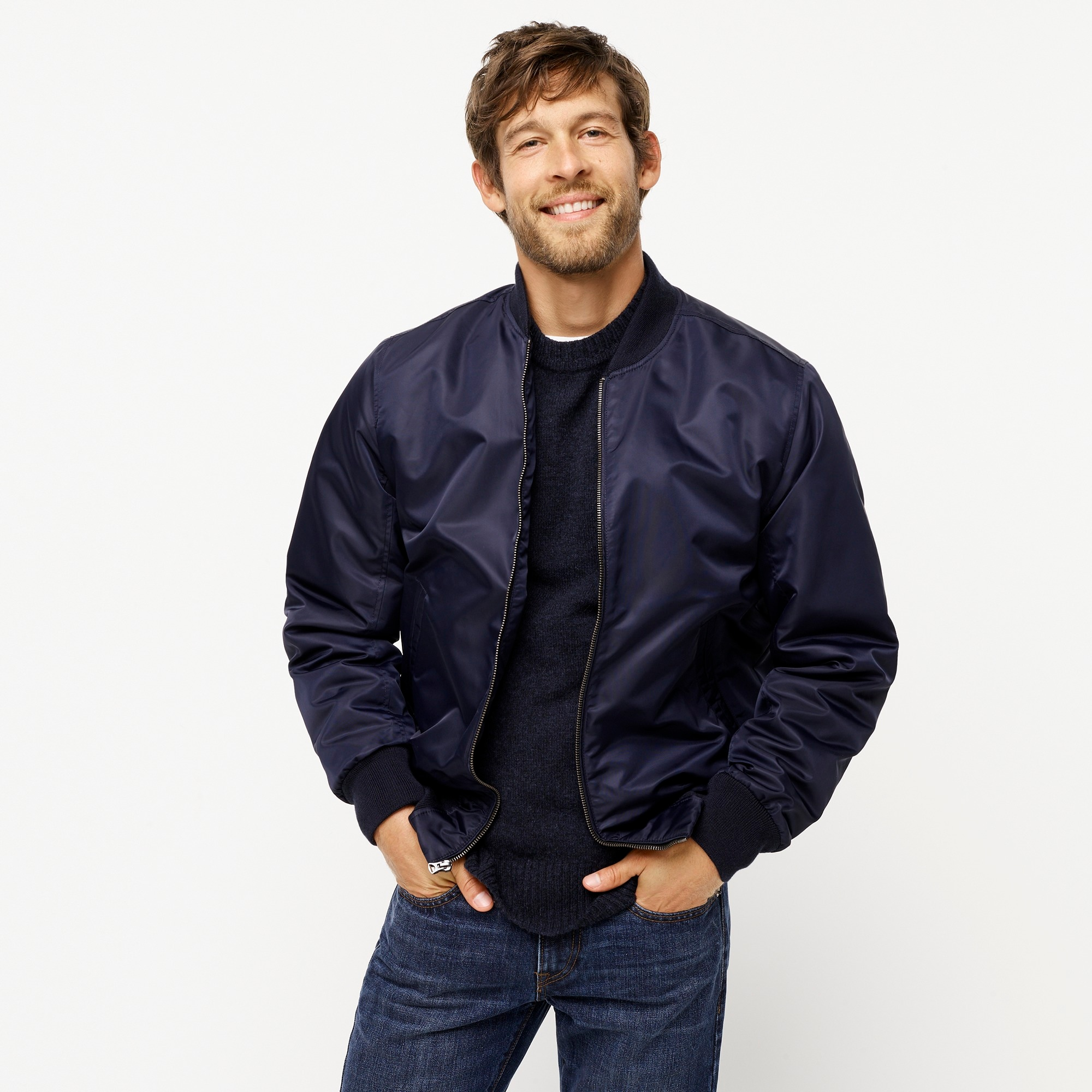 mens Wallace & Barnes flight bomber jacket