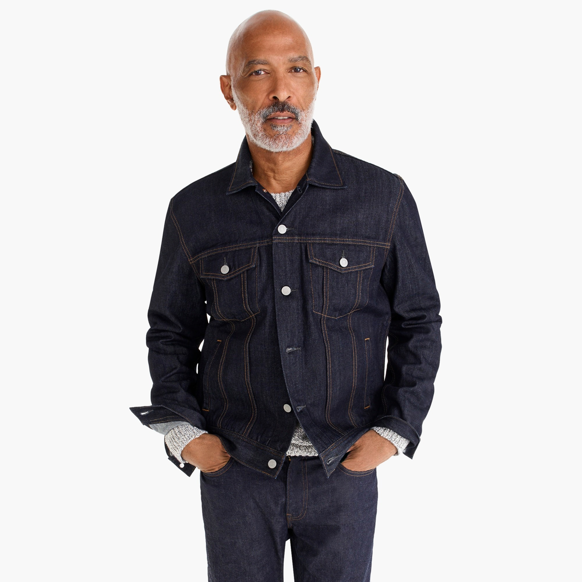Classic denim jacket men coats & jackets c