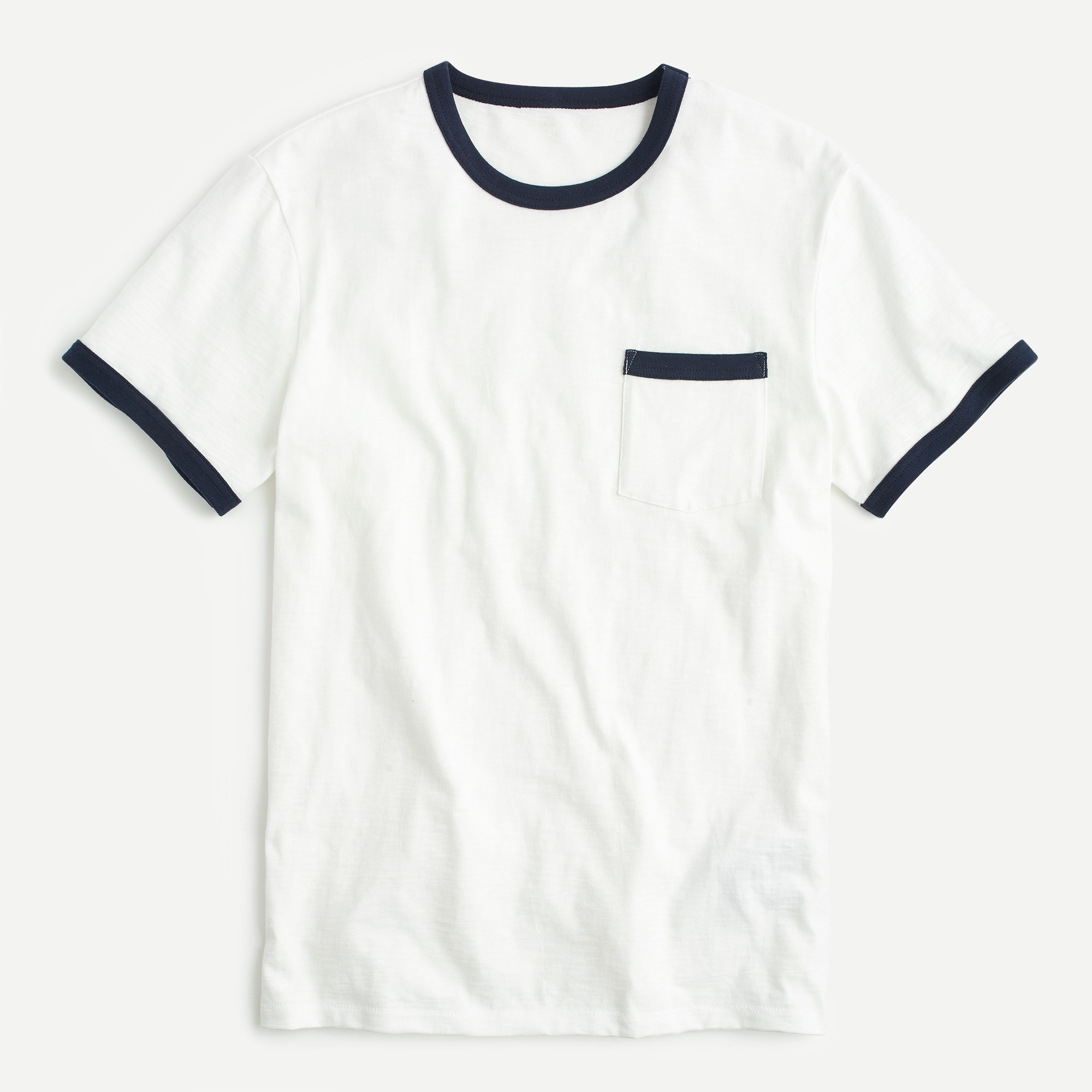 Tall slub jersey tipped pocket T-shirt