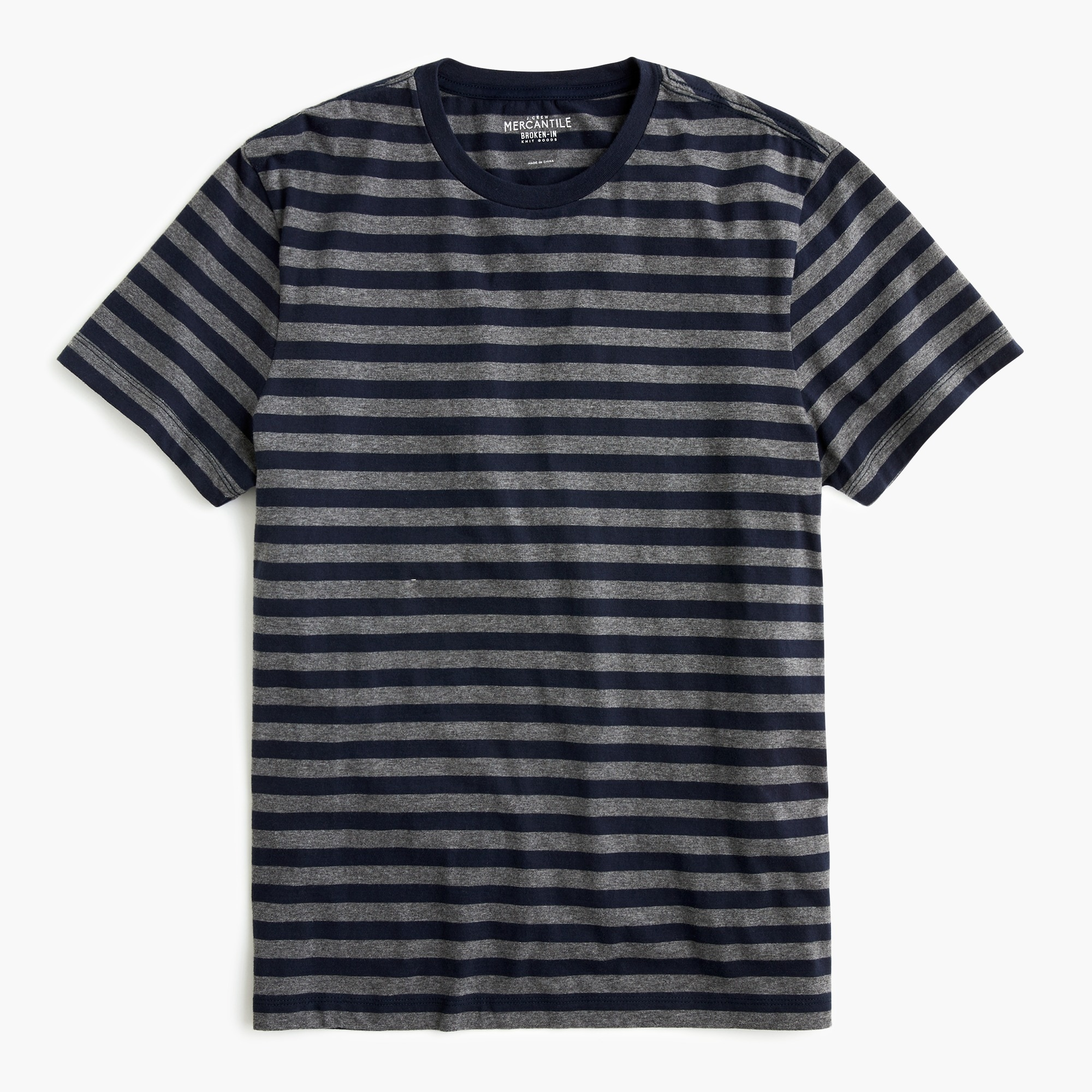 men's tall j.crew mercantile broken-in t-shirt in canyon stripe - men's knits