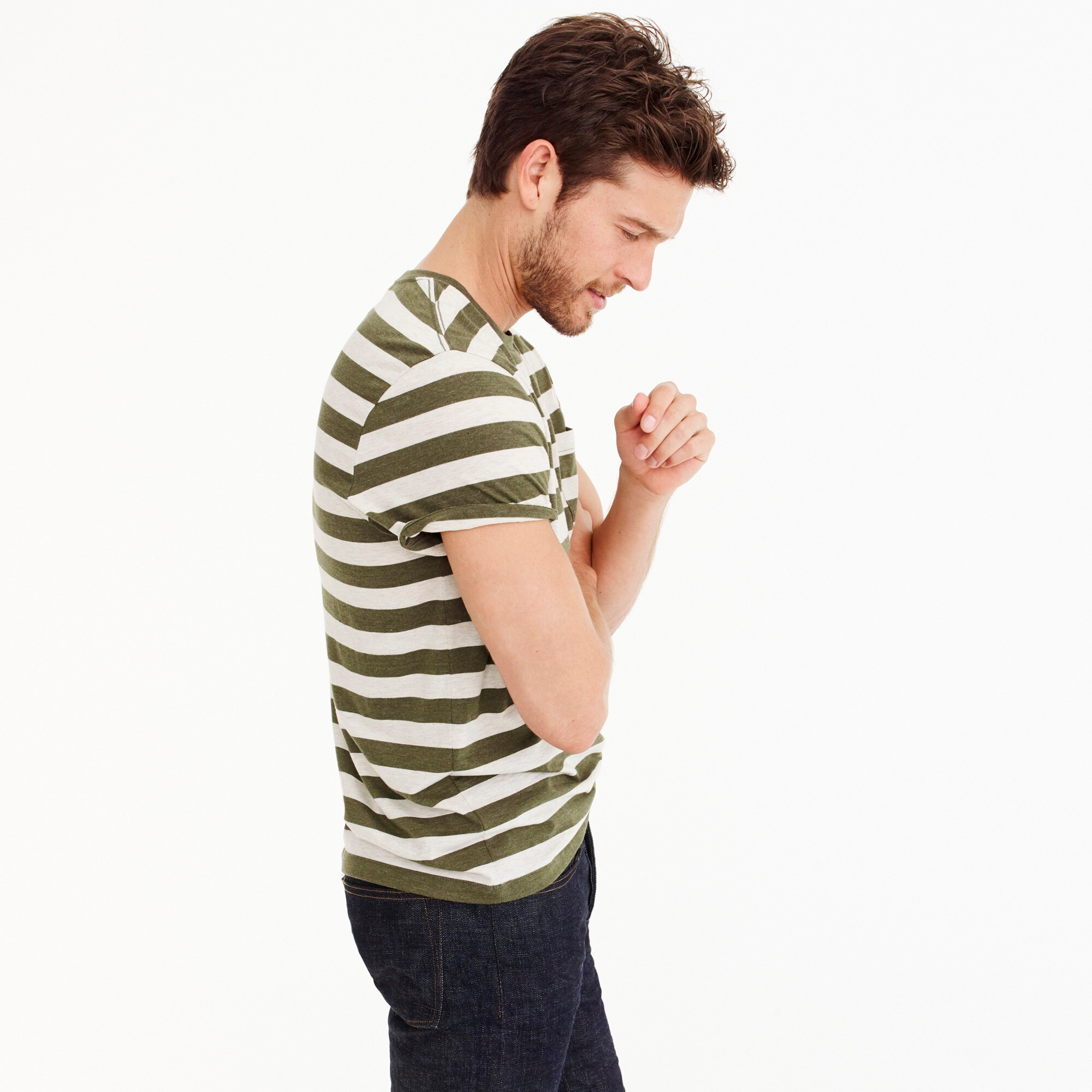 Image 3 for J.Crew Mercantile Broken-in T-shirt in Bedford stripe
