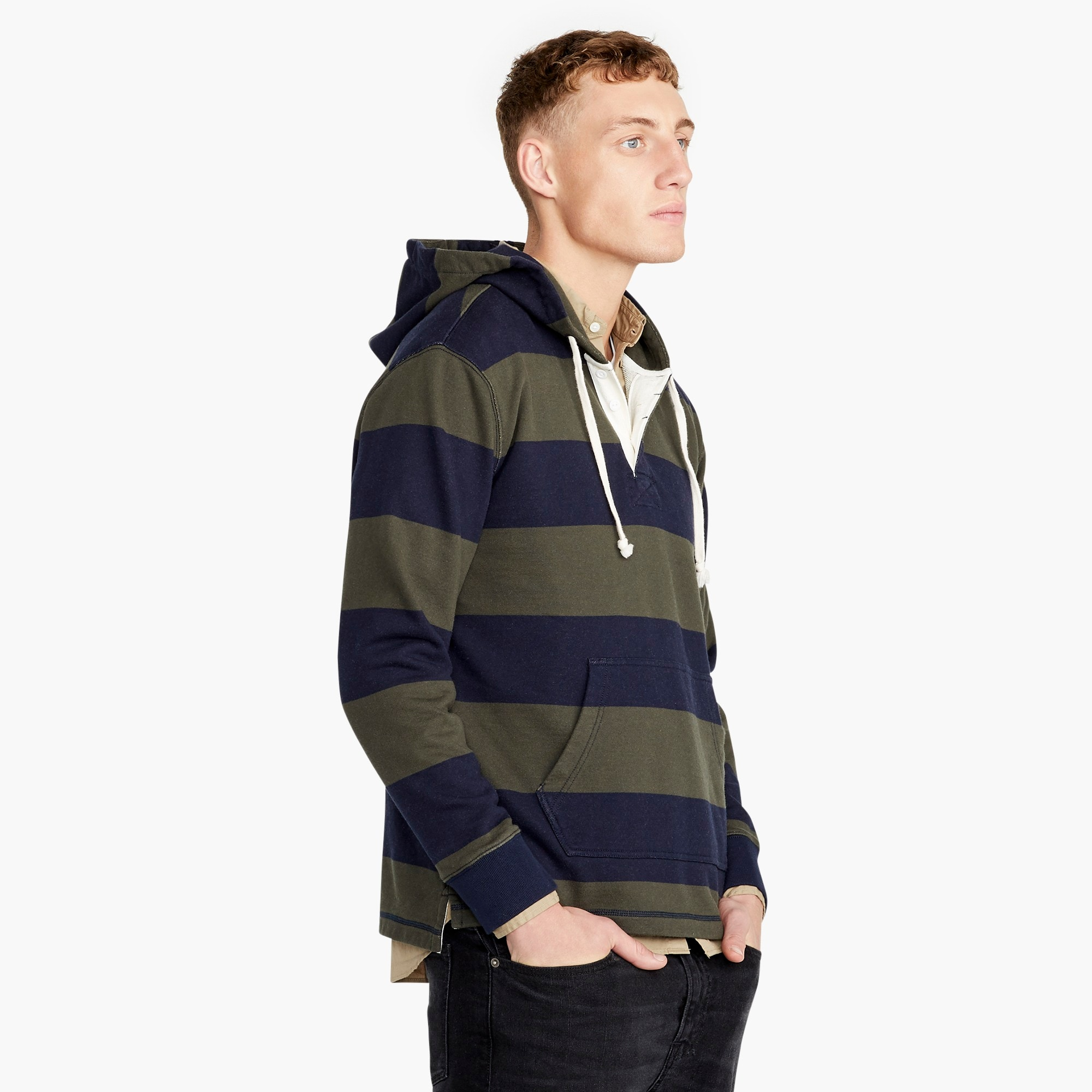 Tall French terry rugby hoodie