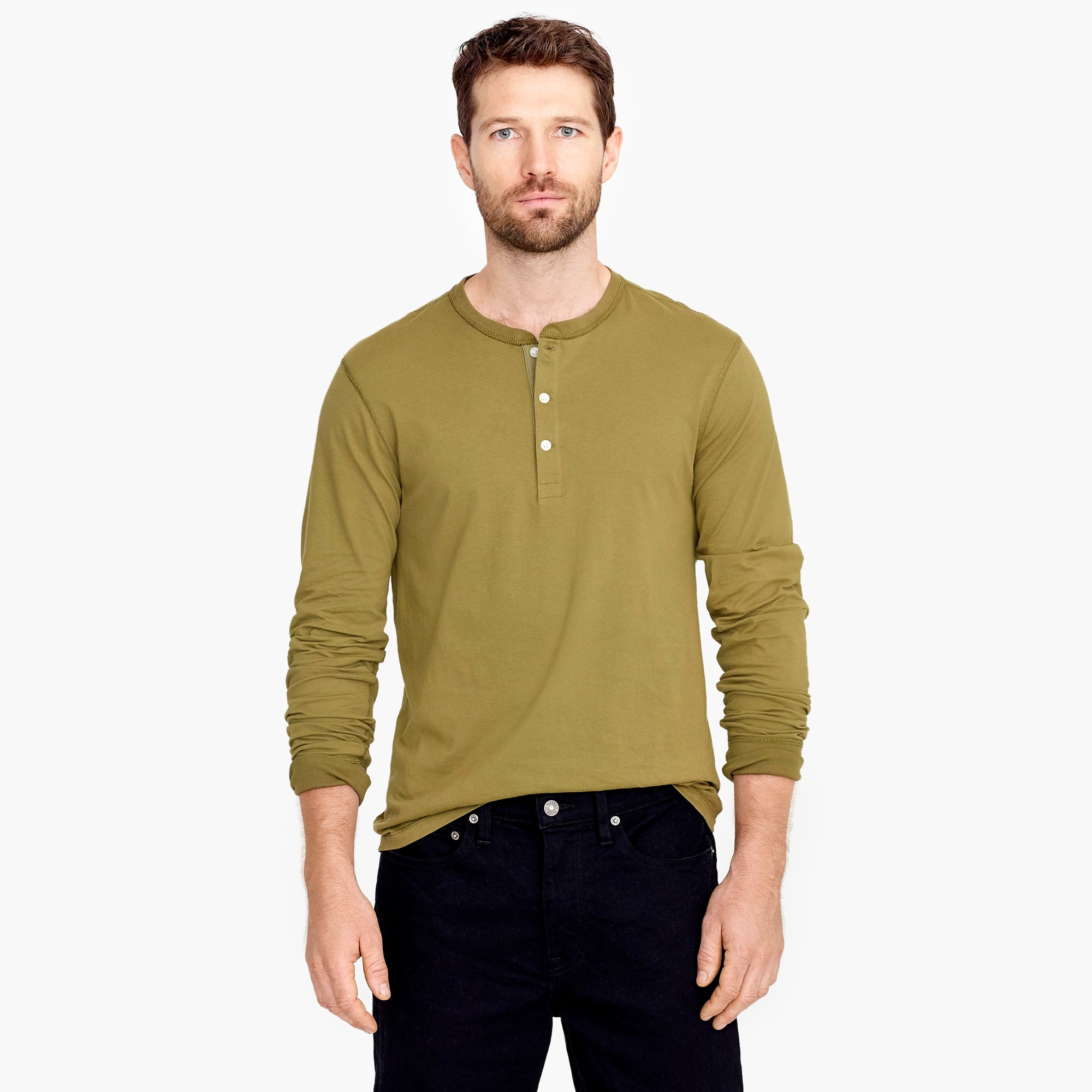 Slim J.Crew Mercantile Broken-in henley