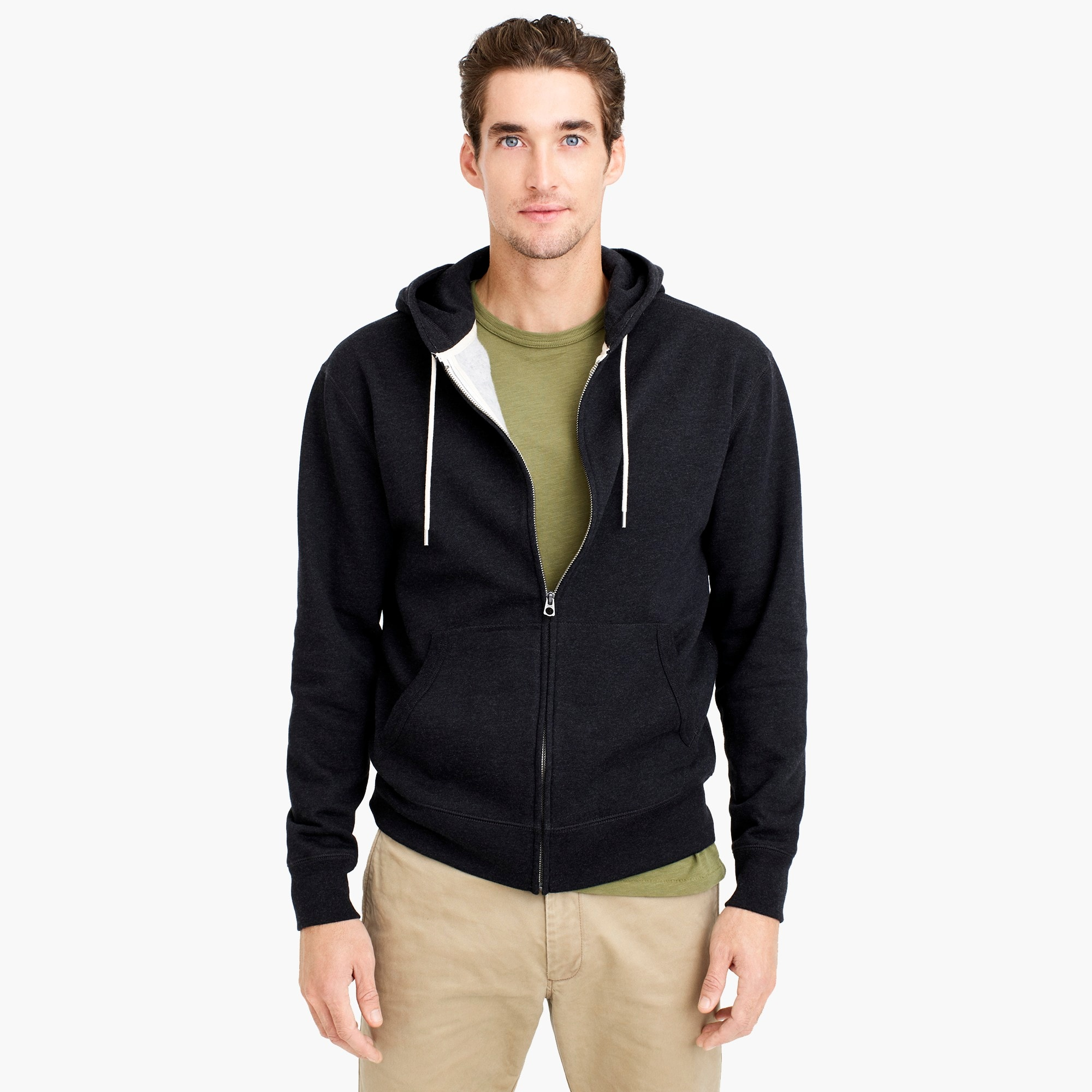 mens Tall brushed fleece full-zip sweatshirt