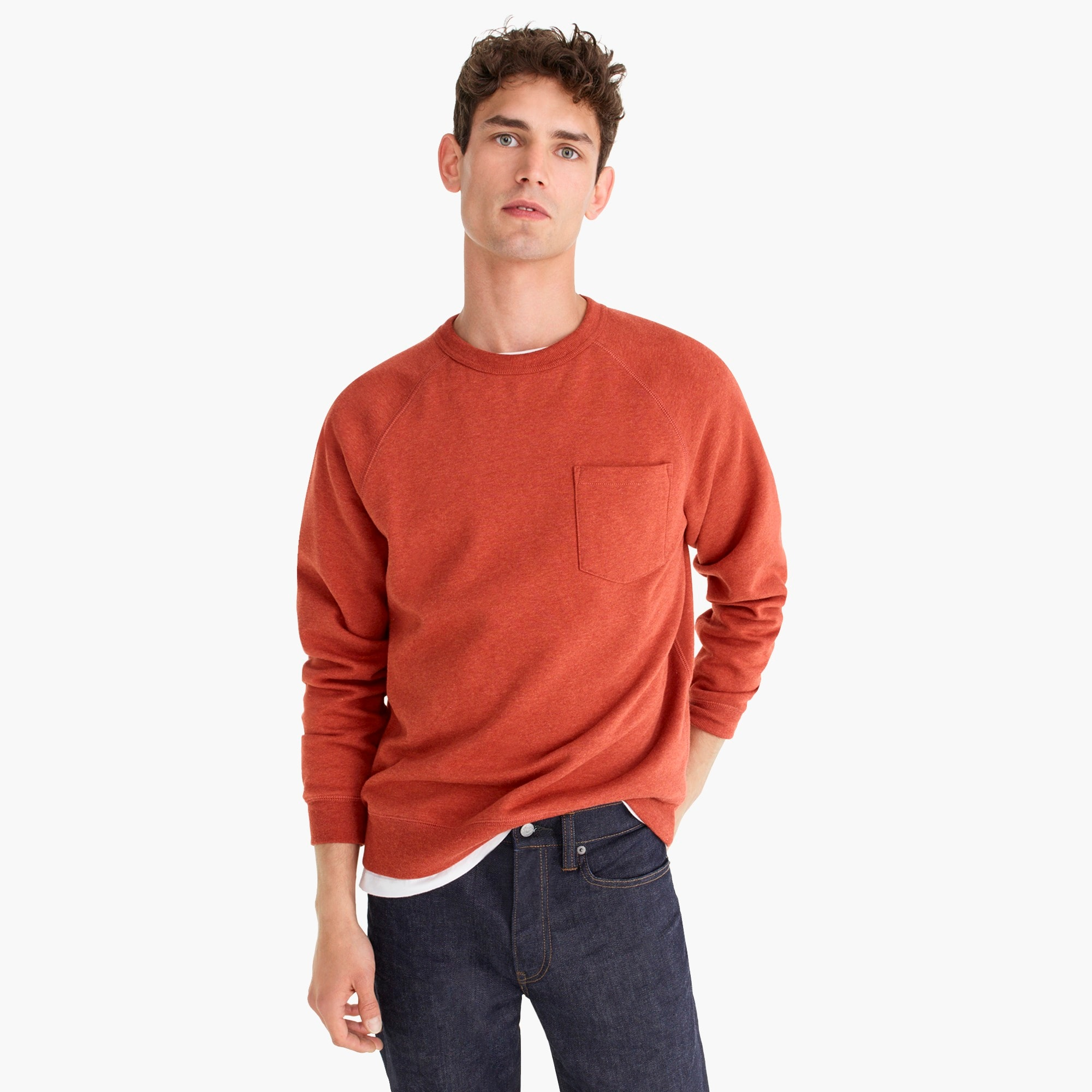 Tall brushed fleece crew neck sweatshirt