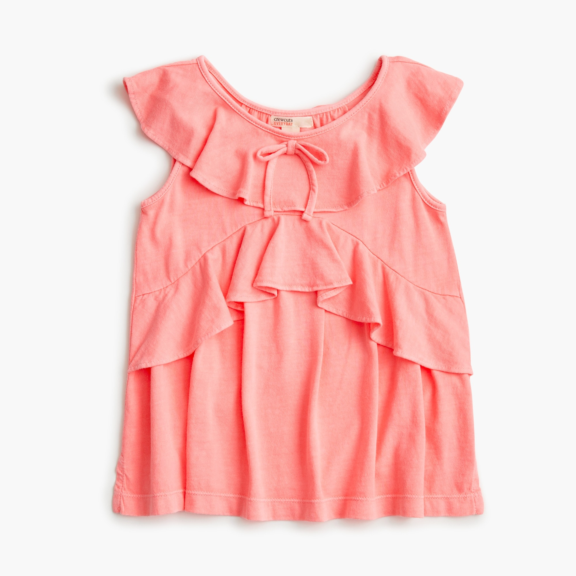 girls Girls' ruffle-trimmed top
