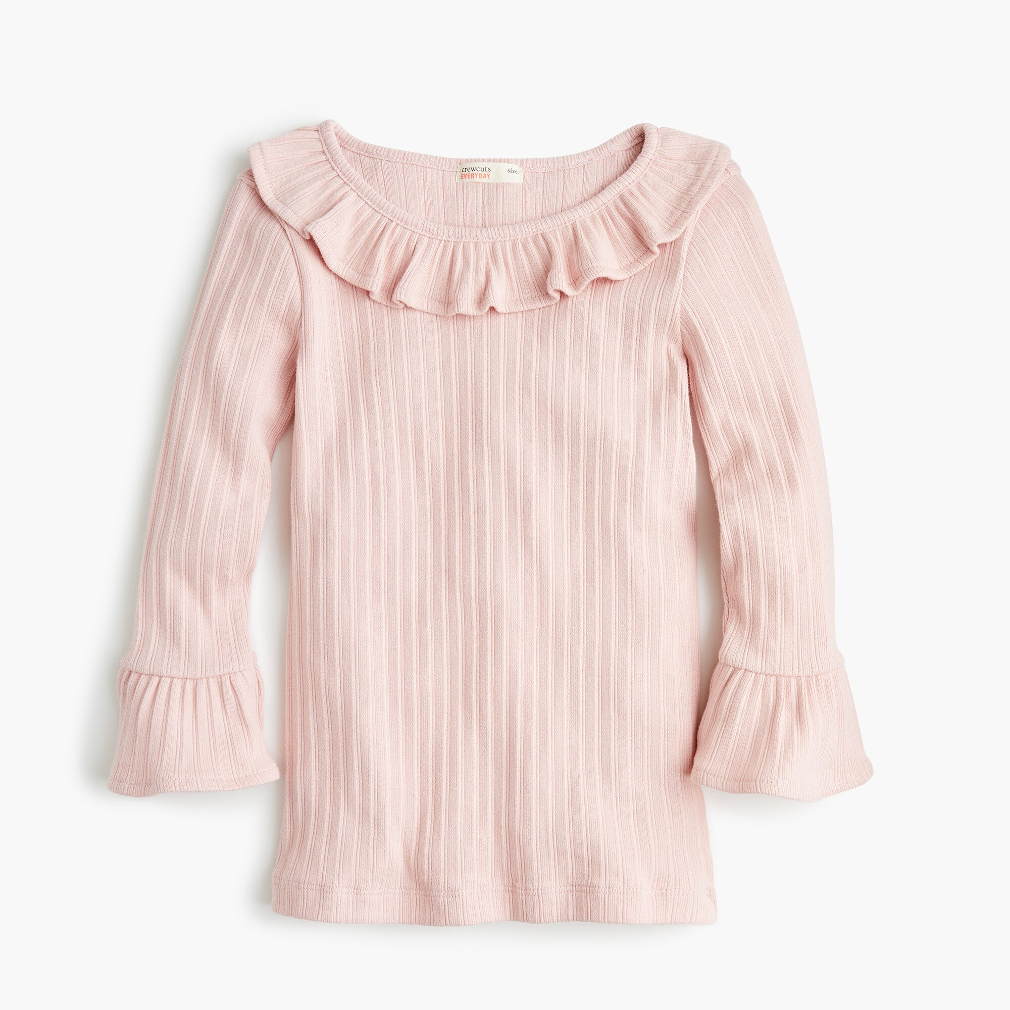 girls Girls' ribbed top with ruffles