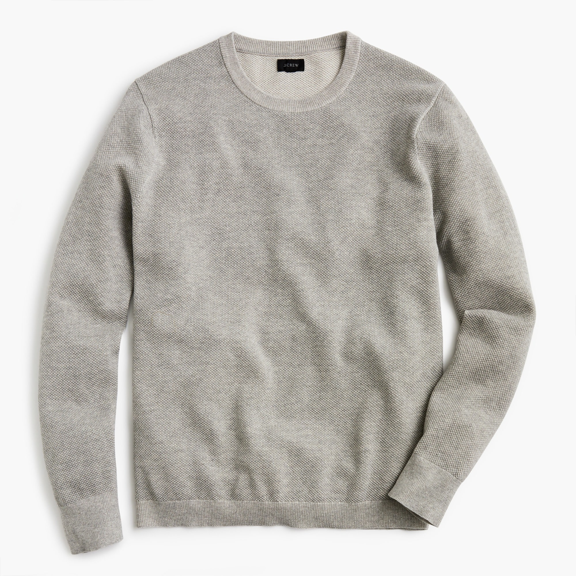 Image 1 for Cotton plaited texture crewneck sweater