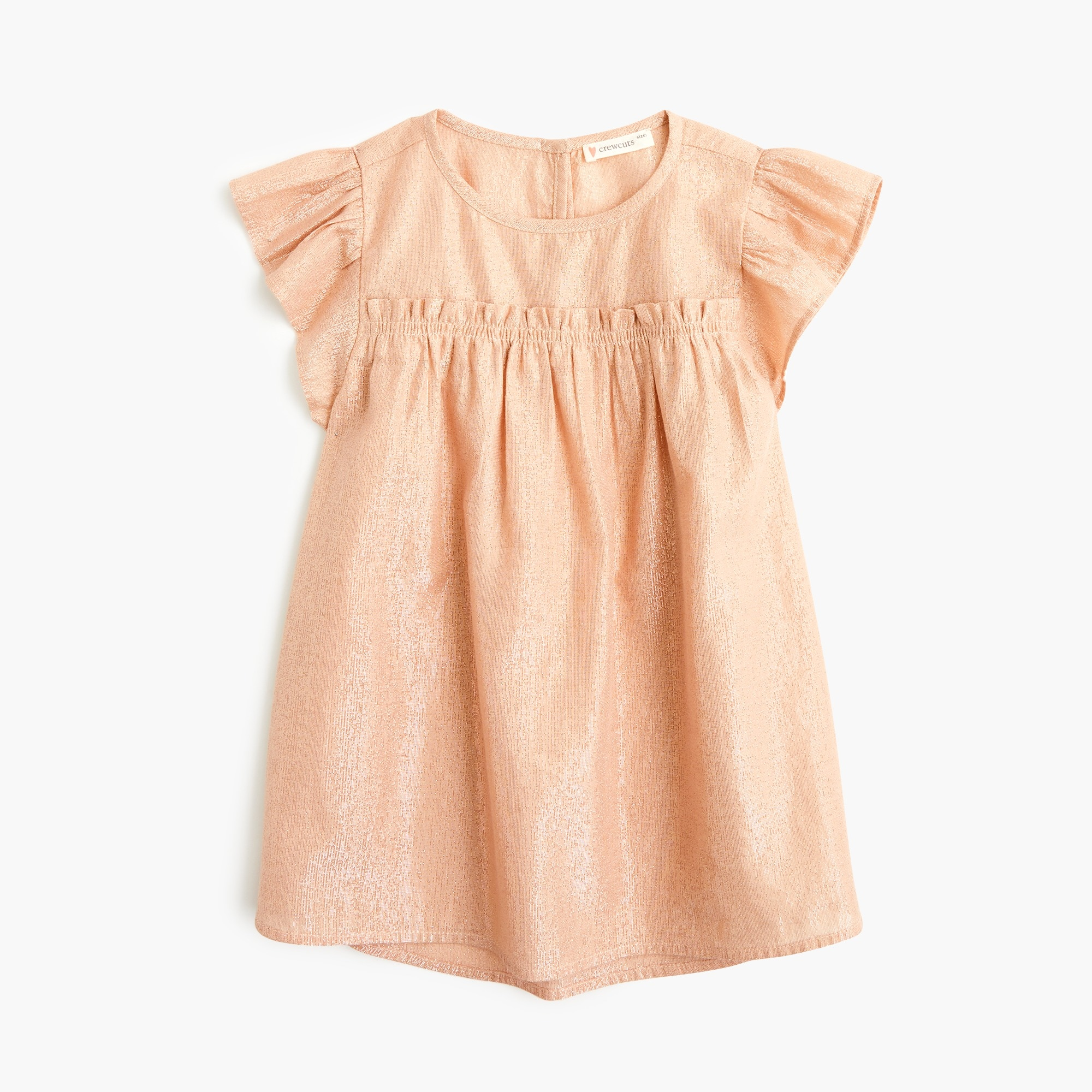 Image 3 for Girls' ruffle-trimmed top in lamé