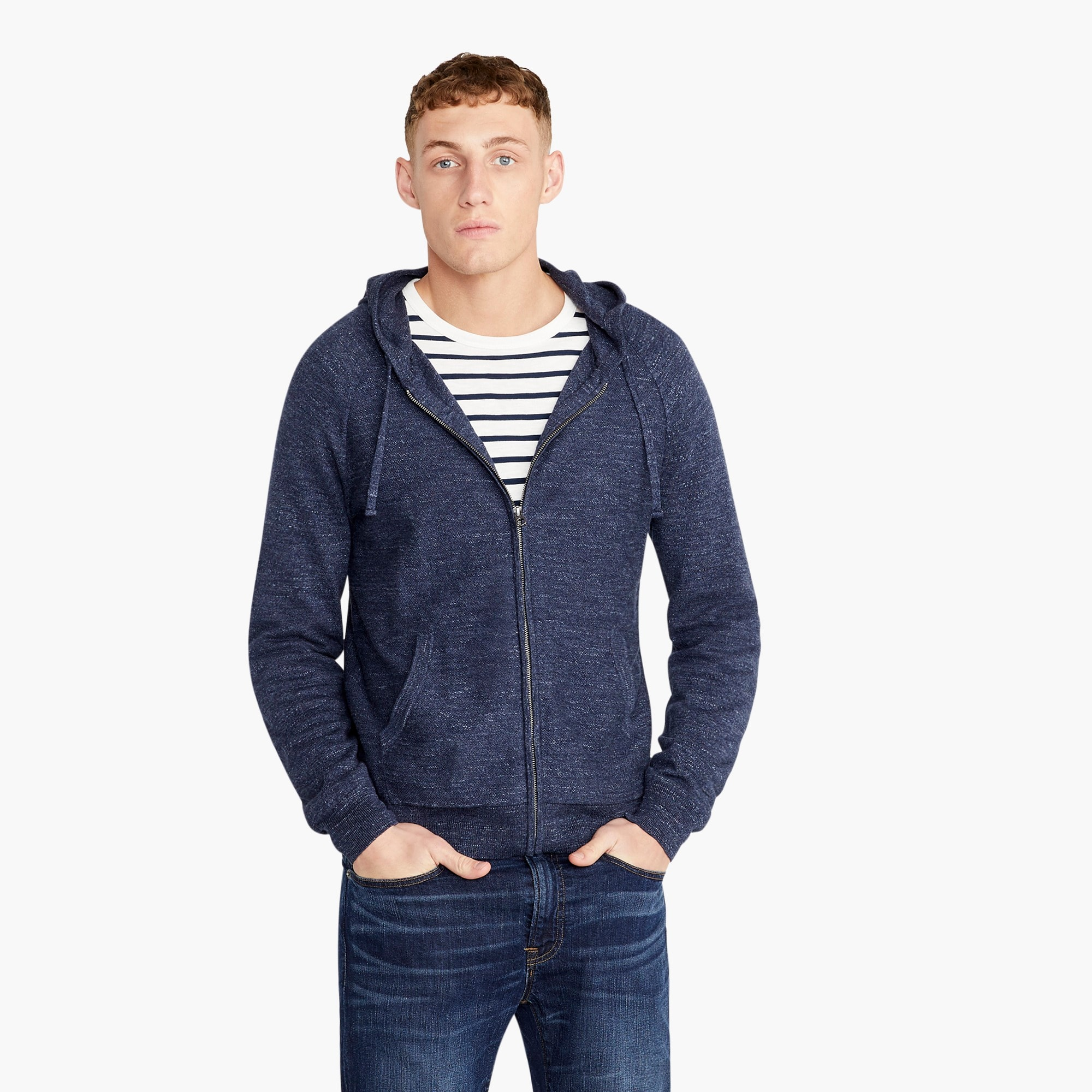 mens Rugged cotton raglan-sleeved hoodie